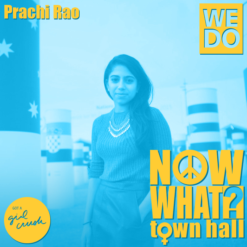 Prachi Rao // Project and Communications Associate, Women's Environment & Development Organization - As the Women's Environment and Development Organization Project and Communications Associate, Prachi supports the Advocacy and Communications Director in amplifying the organization's impact by managing multiple channels of communication- from traditional and online media to multi-stakeholder outreach and capacity building, as well as logistical support for the Women Delegates Fund. She holds a BA/LLB from Monash University, Australia and specialized in International Politics and Criminology. As a law student, she worked in a Pro Bono Community Legal Centre empowering disadvantaged members of the community to enforce their legal rights. During this period, she also volunteered for a number of organizations including: Amnesty International, Unicef, The Starlight Foundation and Jeans for Genes. While still at university, Prachi worked as Schools' Director for Oaktree, Australia's largest youth-run movement fighting poverty.