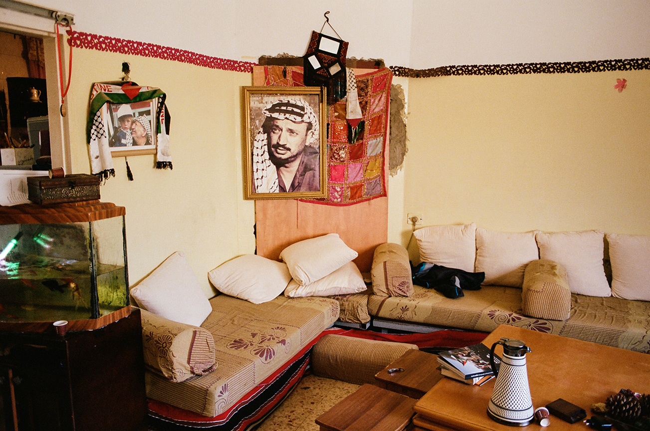Inside the home of Manal Tamimi, Janna's aunt. Janna lives in the apartment adjacent to Manal and her cousin Rand.