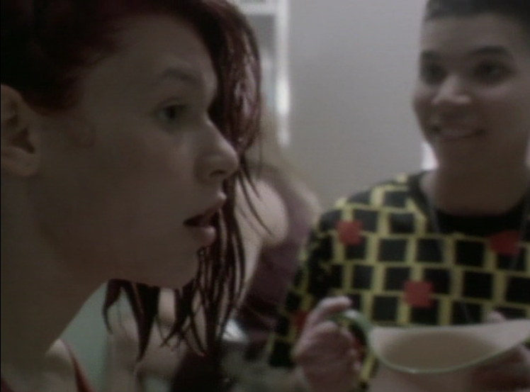 Angela Chase (Claire Danes) dyes her hair red as an act of rebellion in the pilot episode of  My So-Called Life  (1994)