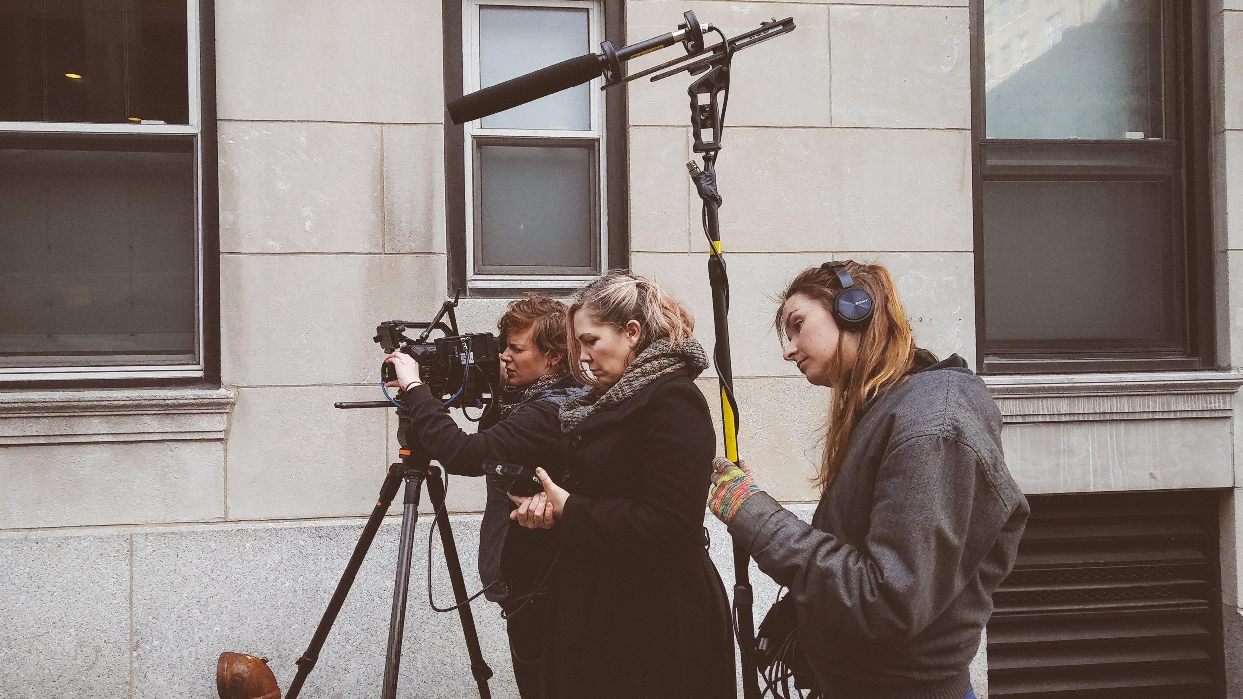 """On set of """"Nora"""" // Photo: Anastasiya Sergienya"""