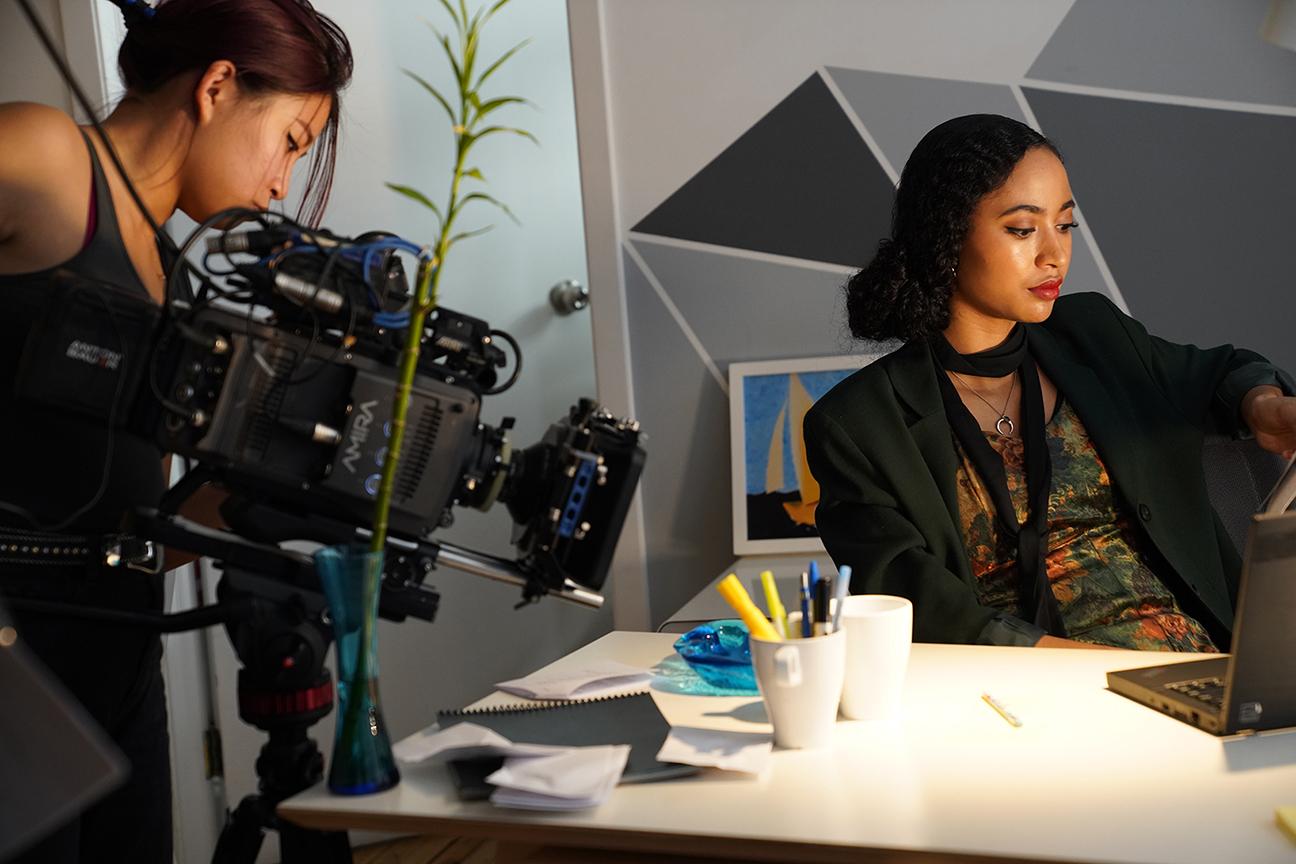 "On set of ""That Very Evening"" // Photo: Tiffany Jackson"