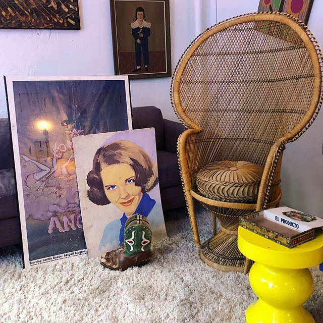 Ideal Saturday situation. #phillyvintage #peacockchair