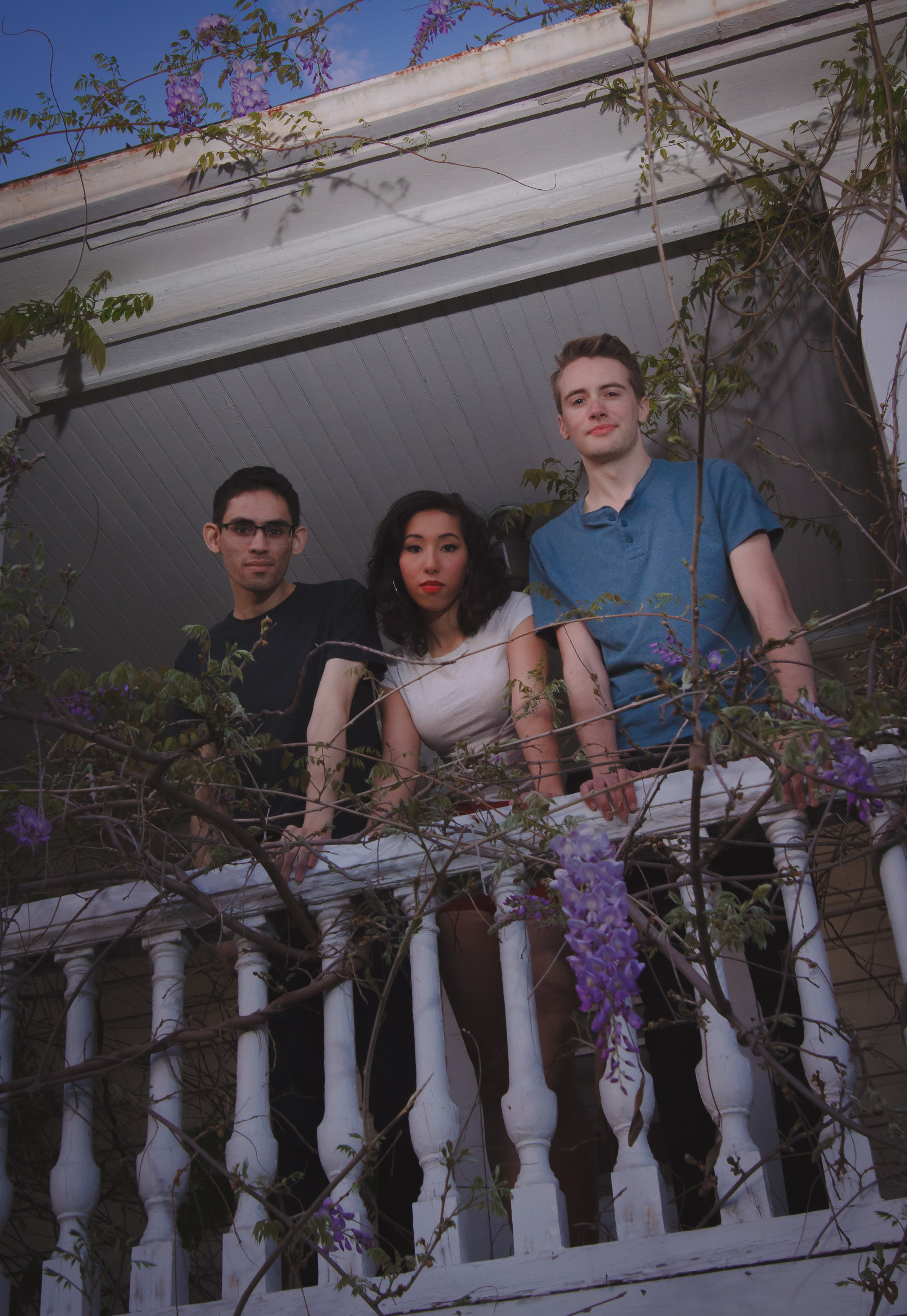 Cinema Hearts, on the house's tangled front porch. Photo by Mauricio Cimino.