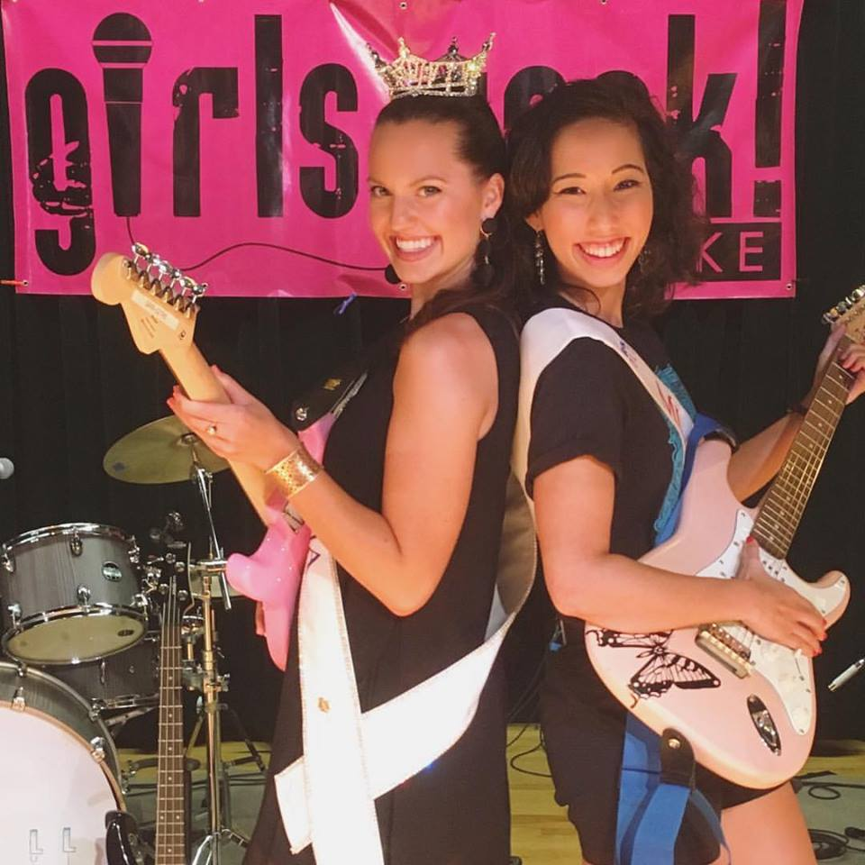 With Miss Virginia 2017, Cecili Weber, at the Girls Rock Roanoke camp concert.