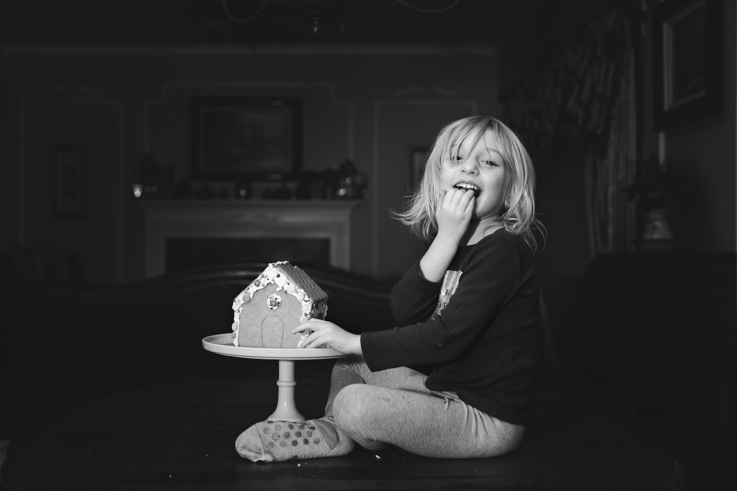 364- Busted her eating the Gingerbread house!