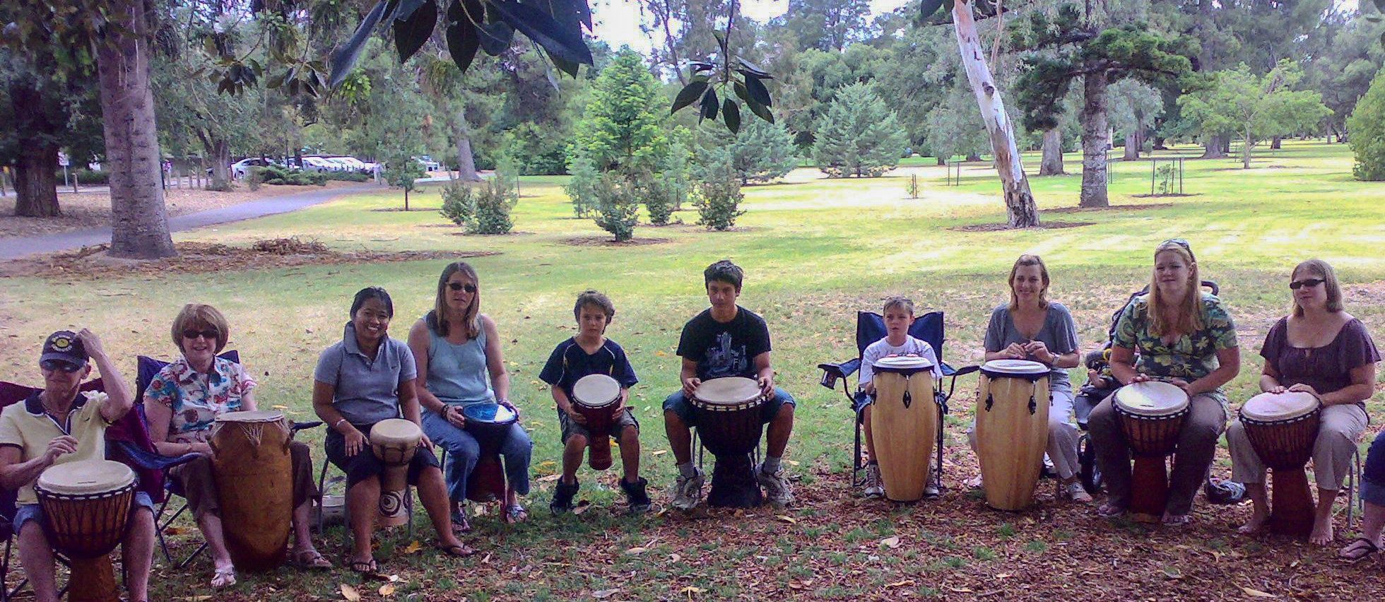 Drumming Workshop with The Percussion House, Botanic Park, Adelaide