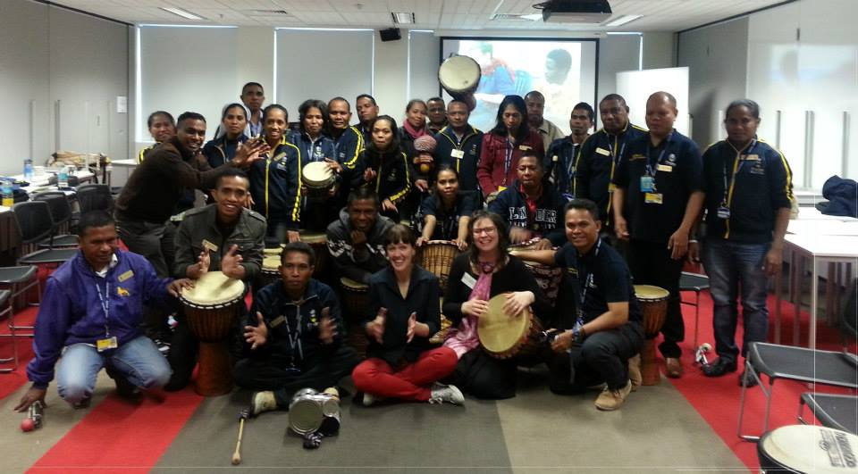 Drumming Workshop with the lovely fellows on fellowship from East Timor.jpg