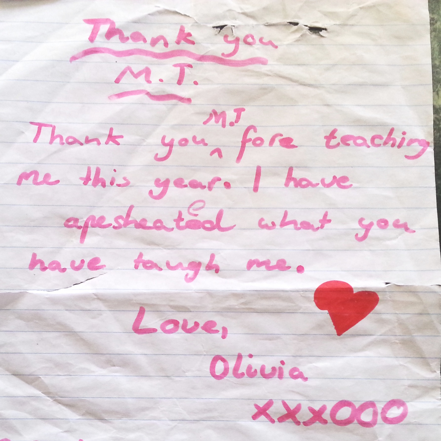 Thanks from Olivia, Clifton Hill Primary School.jpg