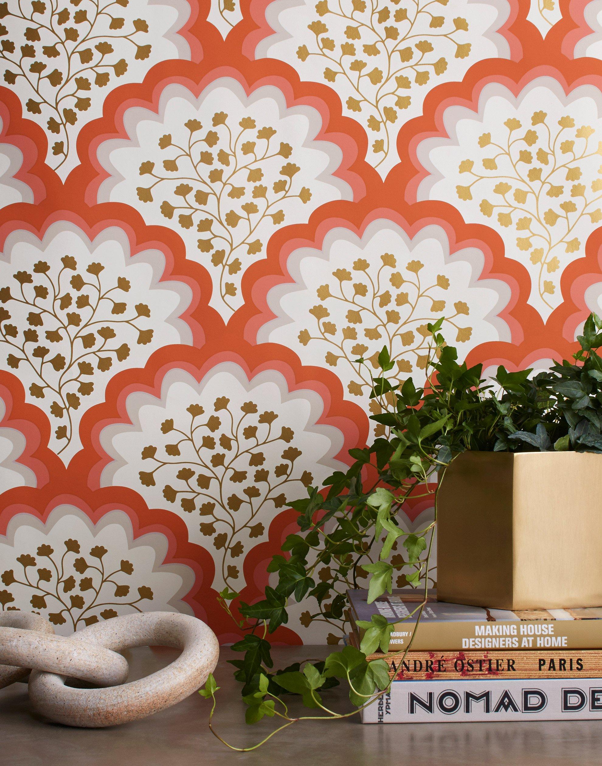 Angelina Coral Wallpaper from Hygge & West