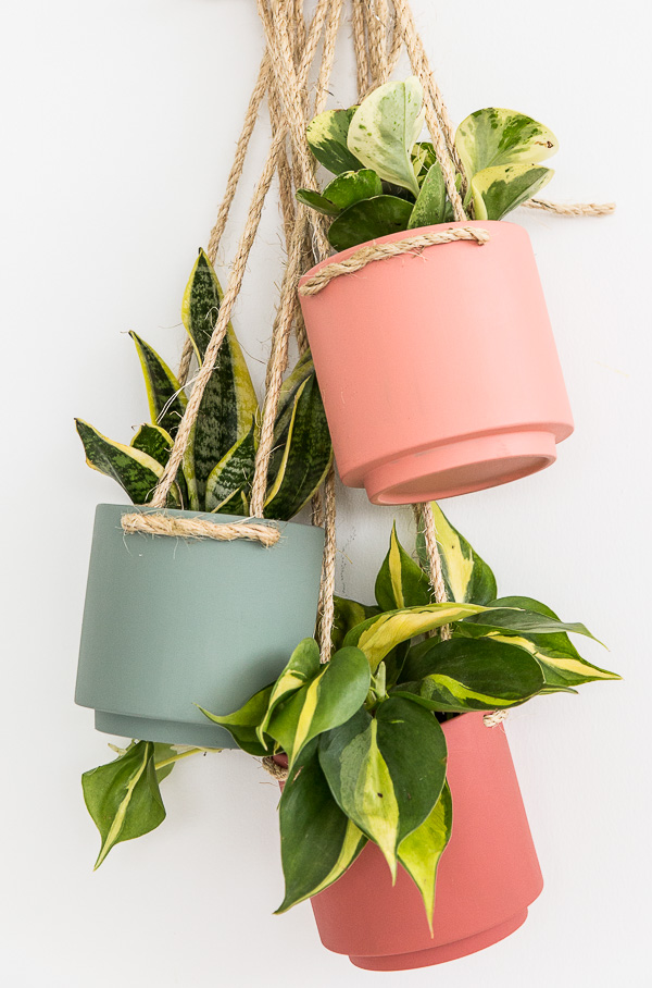 Coral Hanging Planter via Paper & Stitch blog