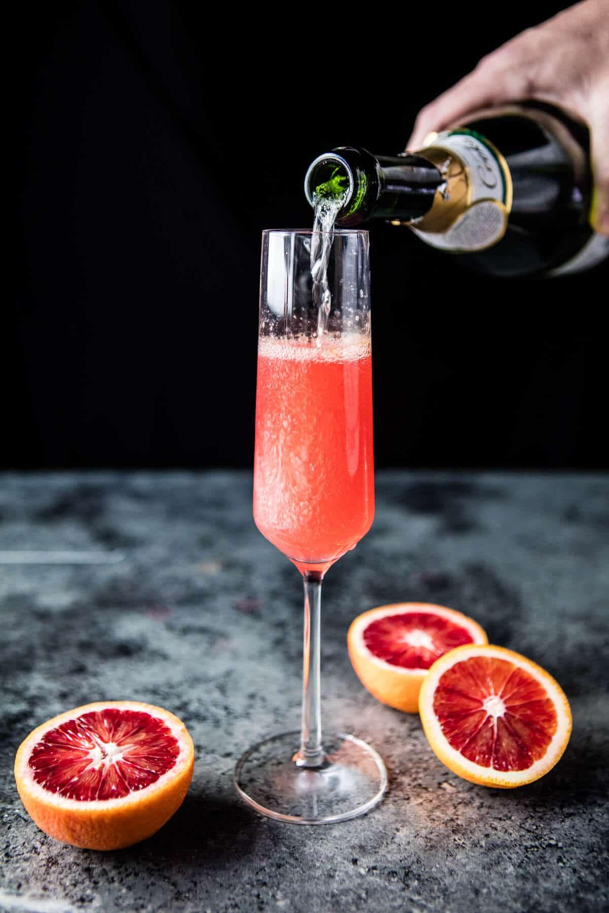Blood Orange Champagne Mule via Half Baked Harvest