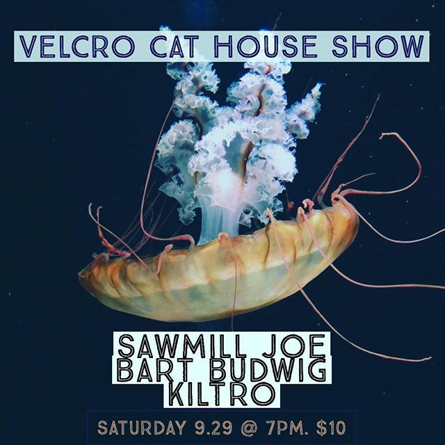 Mmhmm you know it's house show time @ Velcro Cat. Saturday Sept 29 w @sawmill_joe @bartbudwig @kiltromusic - + birthday celebrations for our Oldest Man Conroy (OMC) #houseshow #denver #denvermusic #payartists #music #diy #songwriters #songs