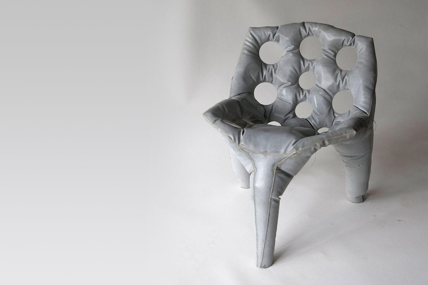 Soft Concrete Chair