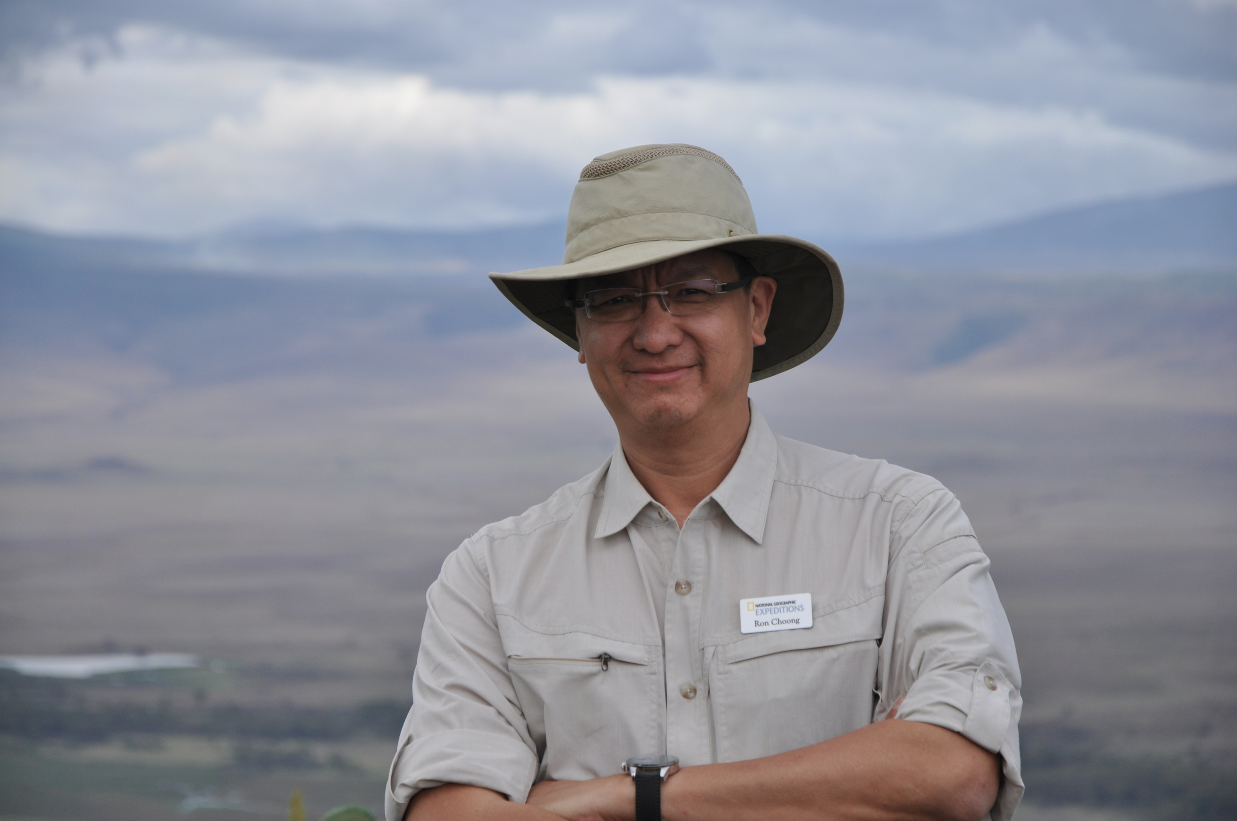 2011, TANZANIA: At Oldupia Gorge where  Homo habilis  was discovered, with Dr Don Johanson