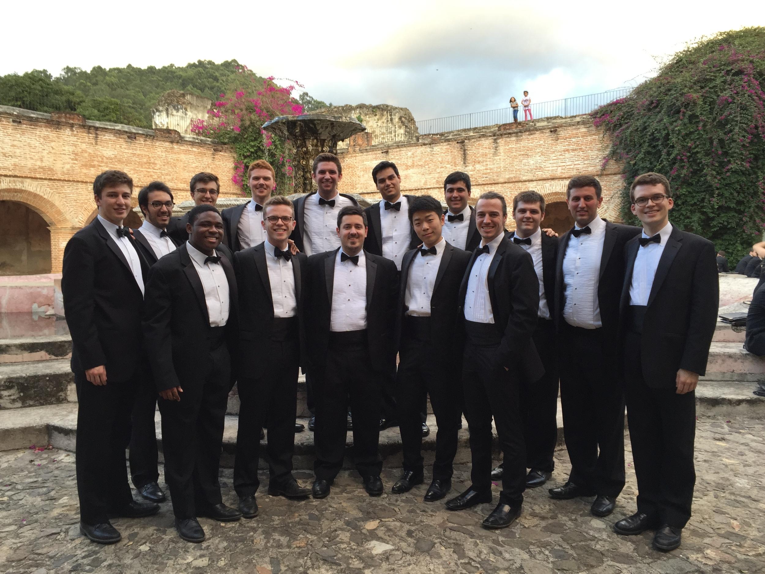 The group at Iglesia de La Merced in Antigua, Guatemala.
