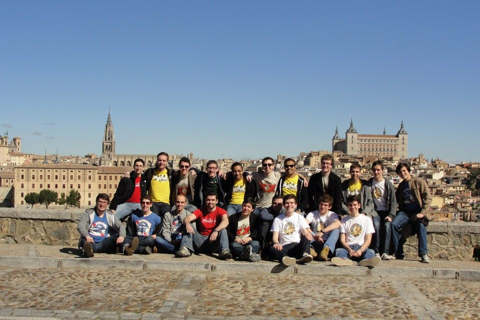 The Hangovers in Toledo, Spain on tour in March of 2013