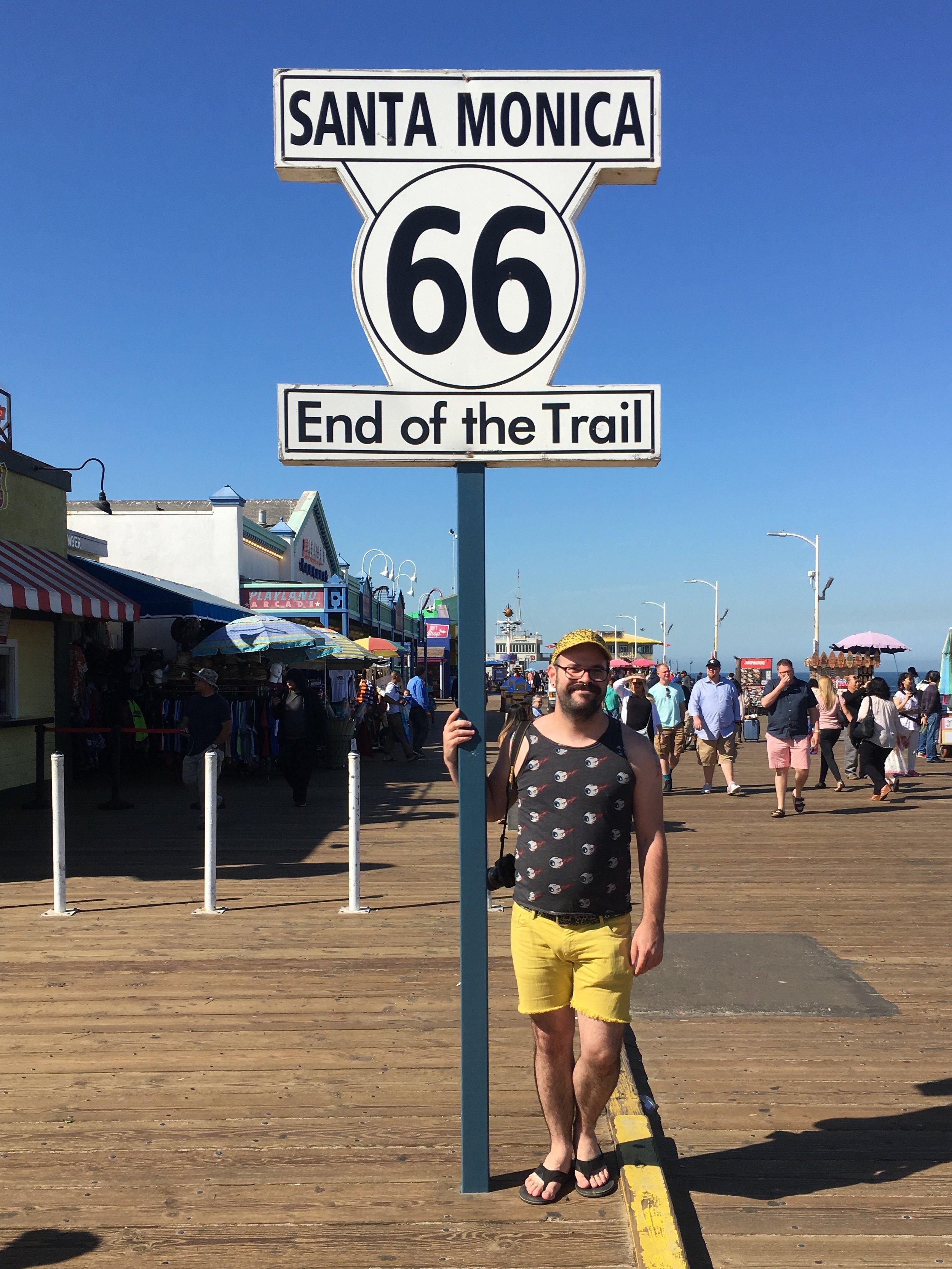 """End of the Trail"" Santa Monica, CA"
