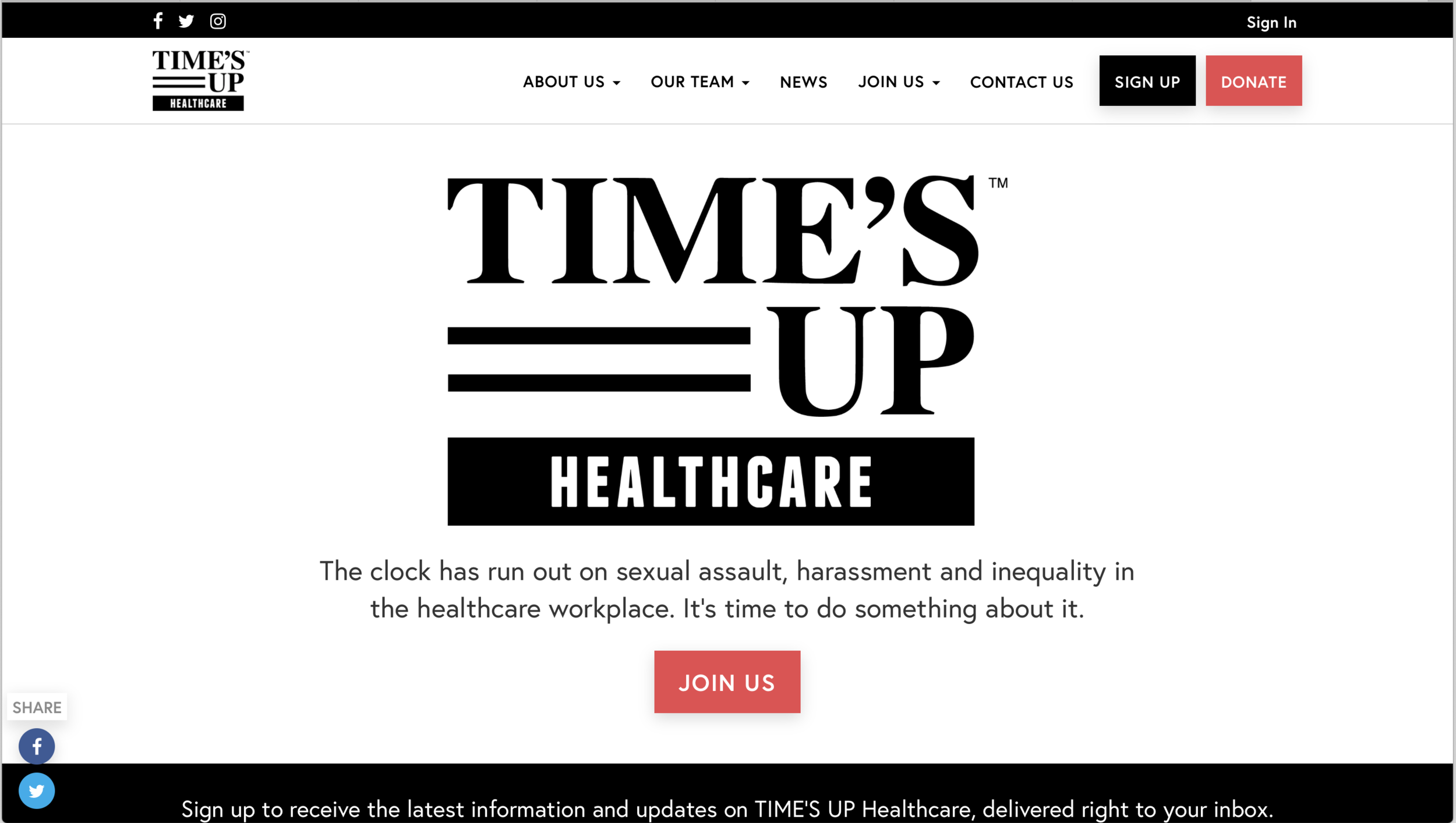 The Time's Up movement has recently been joined by an official healthcare arm.