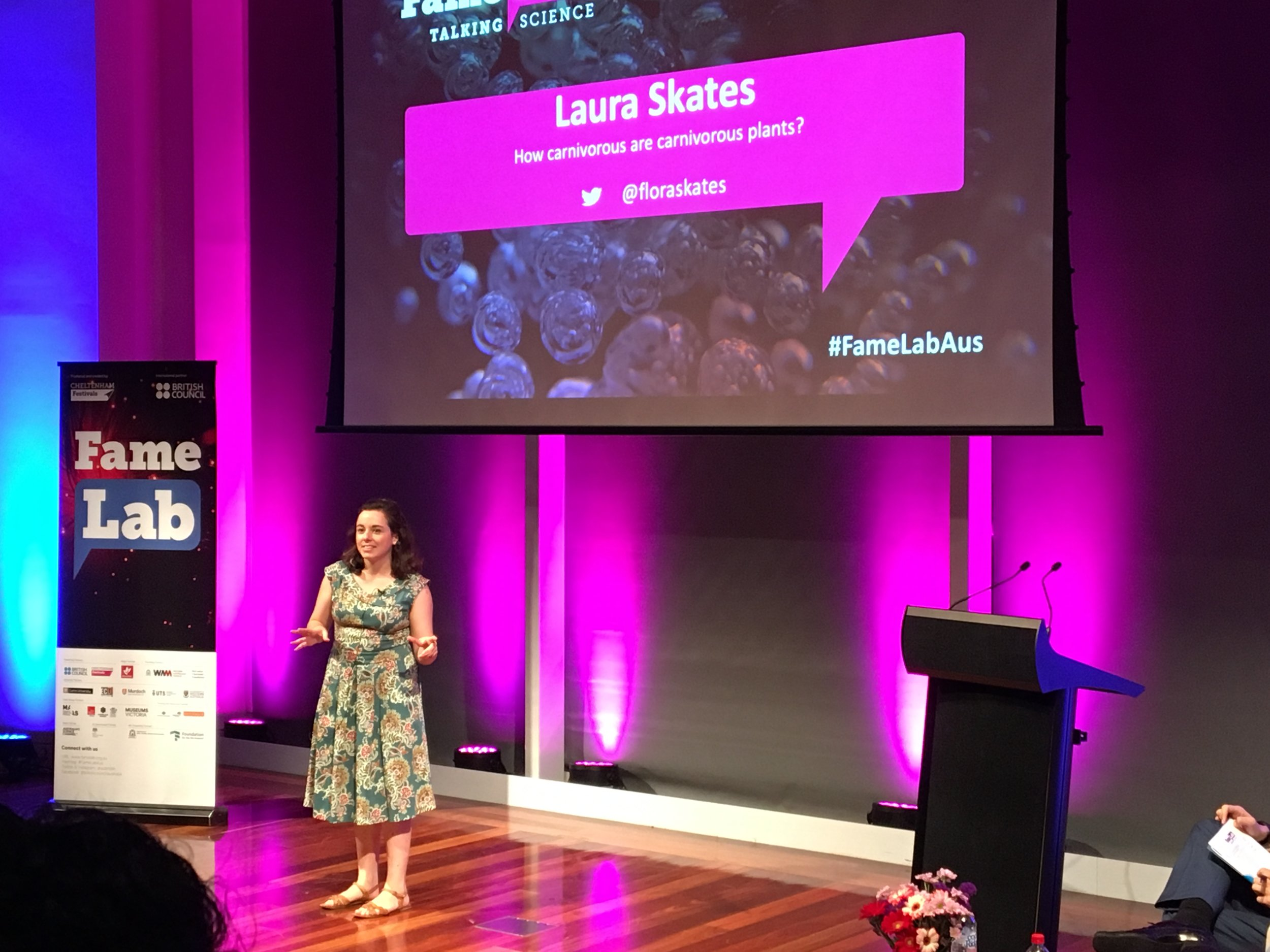Here I am giving my FameLab speech in the Western Australian Finals earlier this year. Thanks to Erika Roper for the photo!