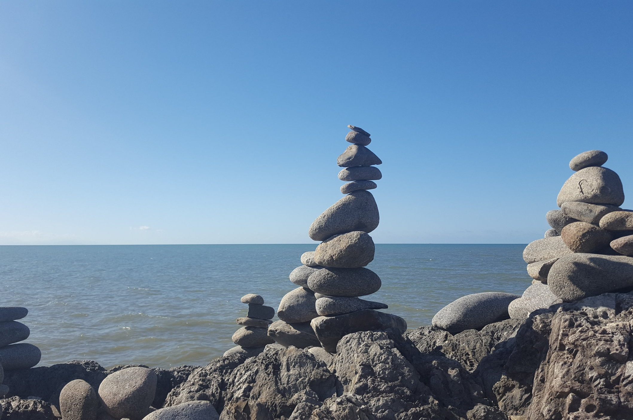 "Did you know ""cairns"" actually means ""a mound of stones""? So here they are, the cairns in Cairns!"