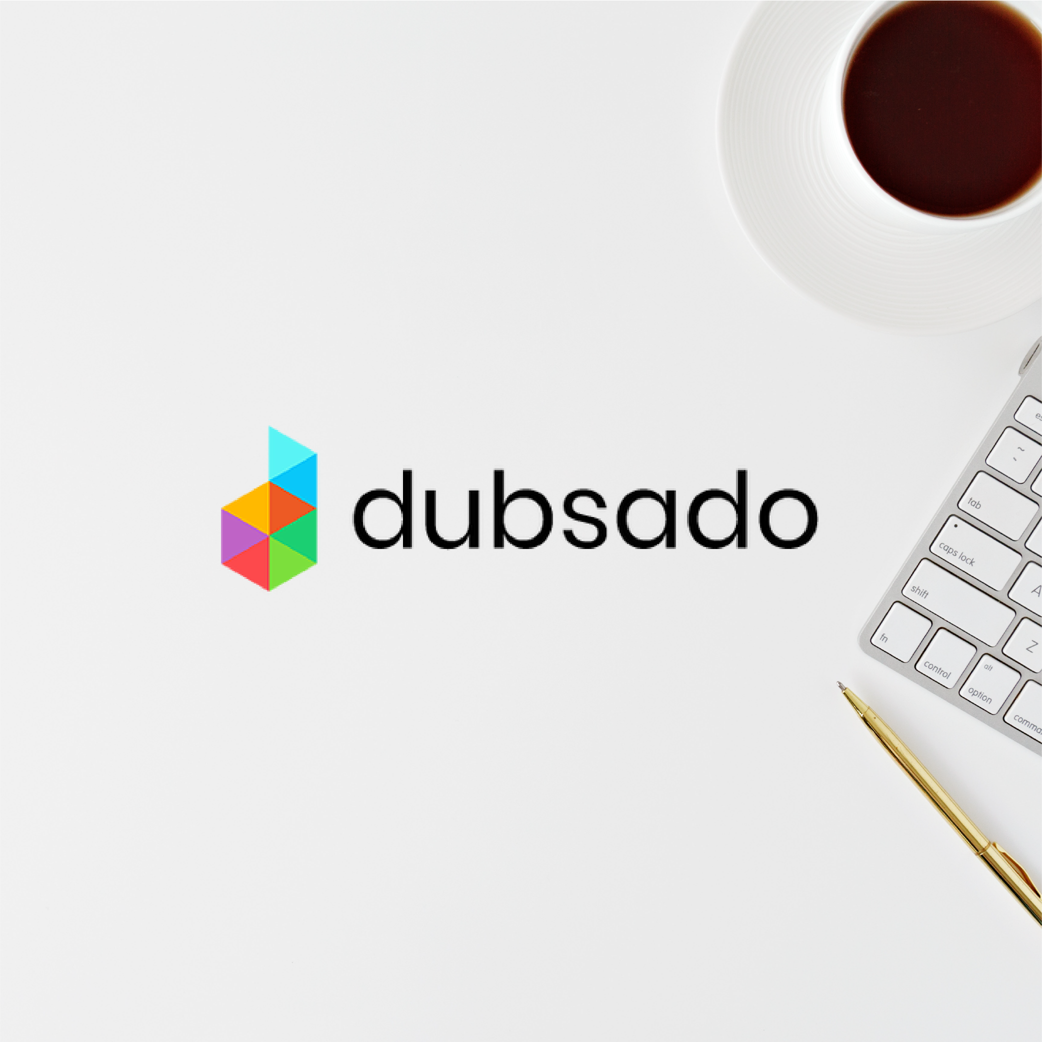 Dubsado affiliate link photo with keyboard and coffee cup
