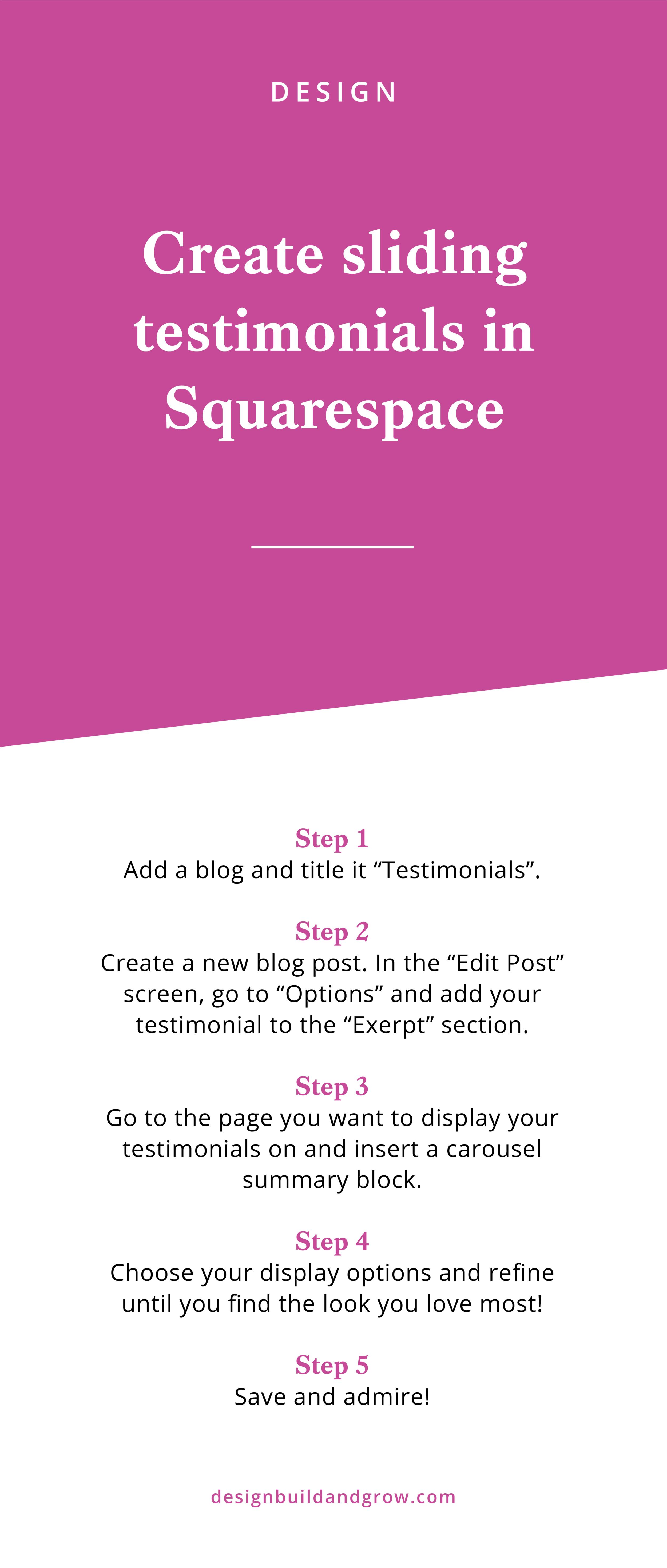5 - Create sliding testimonials.png