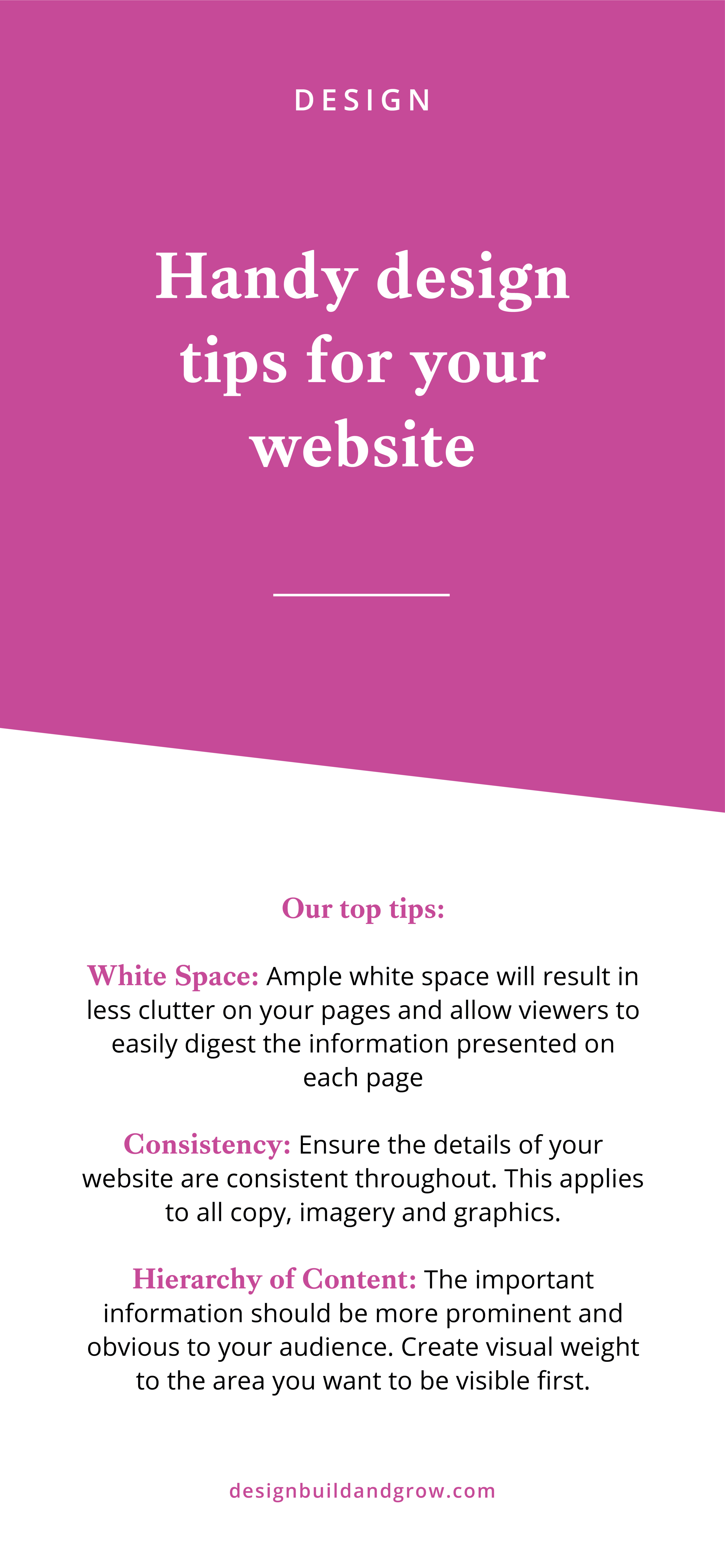 Handy web design tricks to help you create your own site