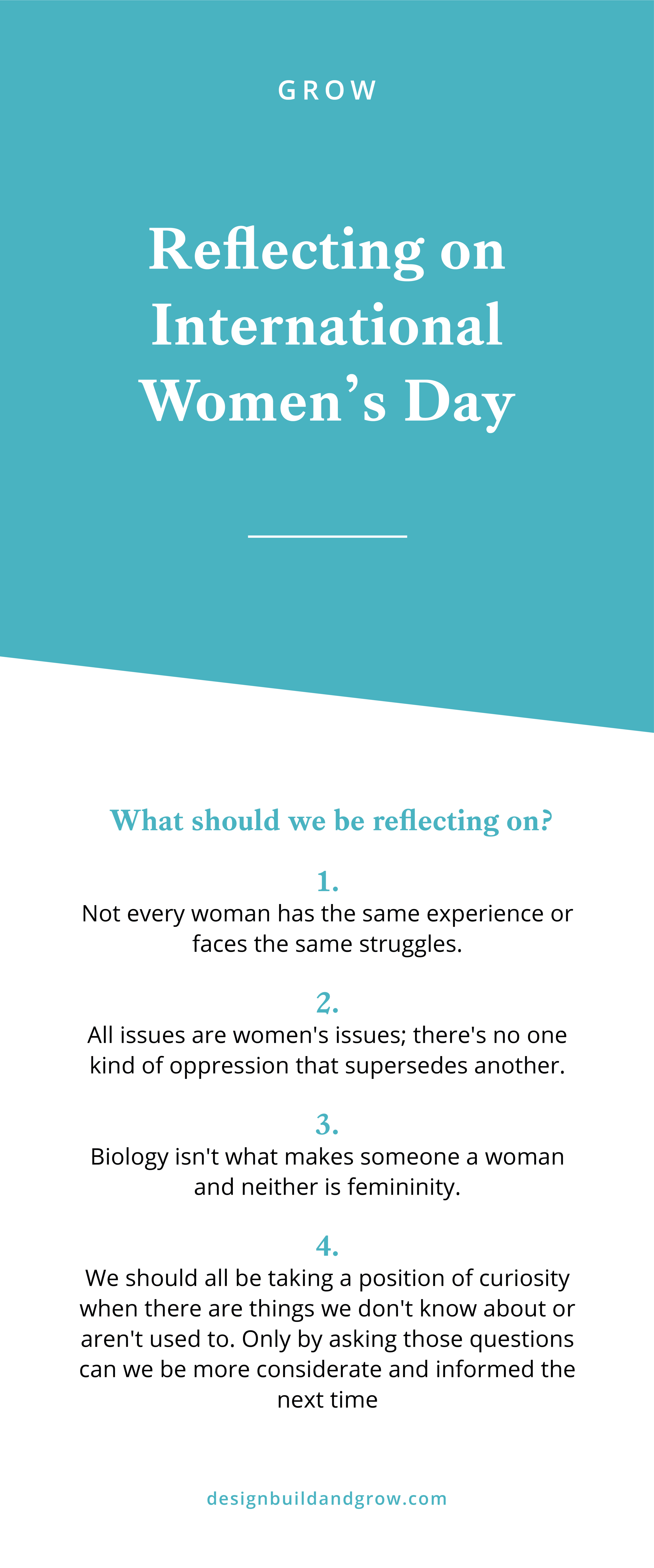 Reflecting on internationals womens day and why we should celebrate it all year long