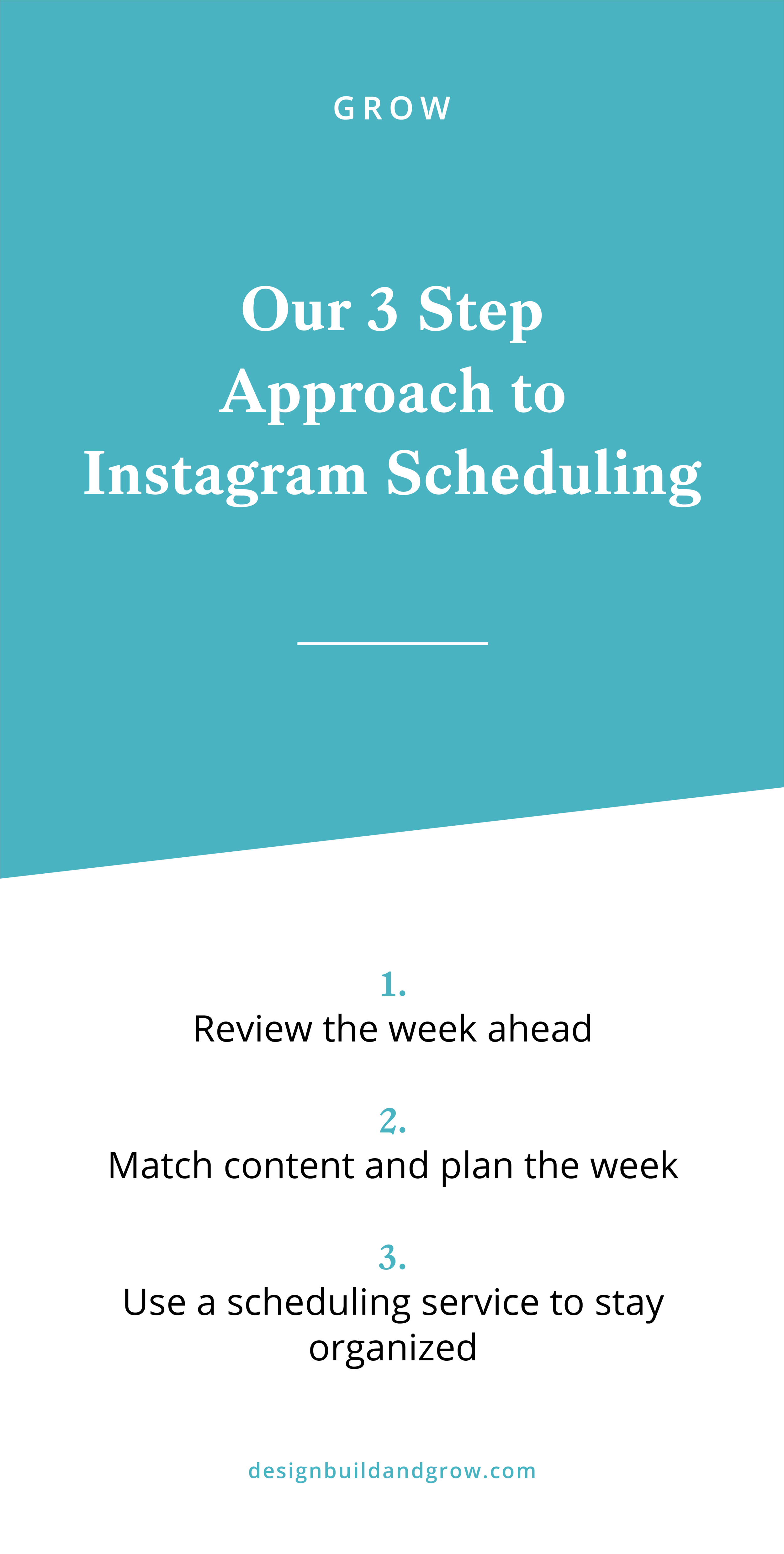 our 3 step approach to instagram scheduling
