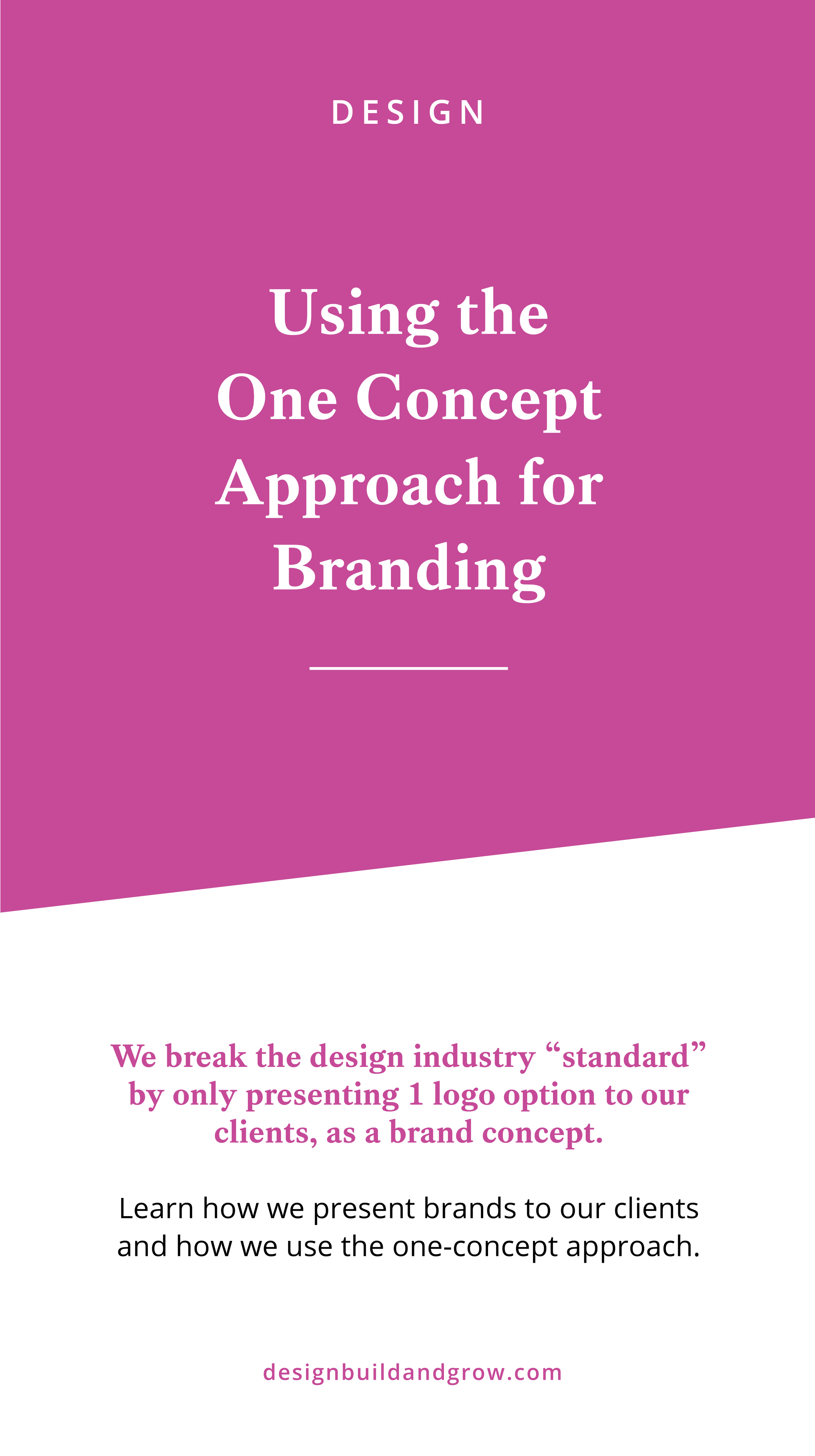Using the one concept approach to branding
