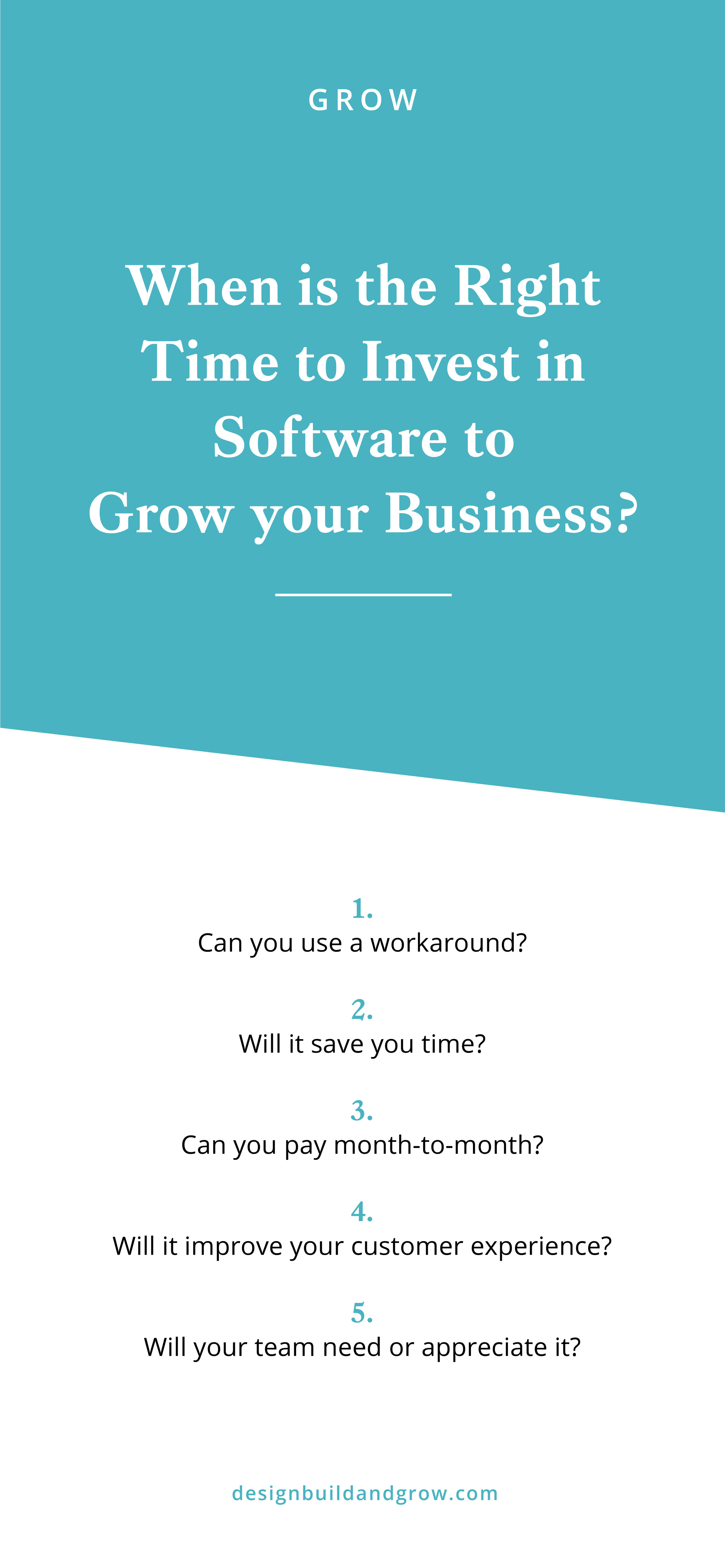 When is the best time to invest in software for your business?