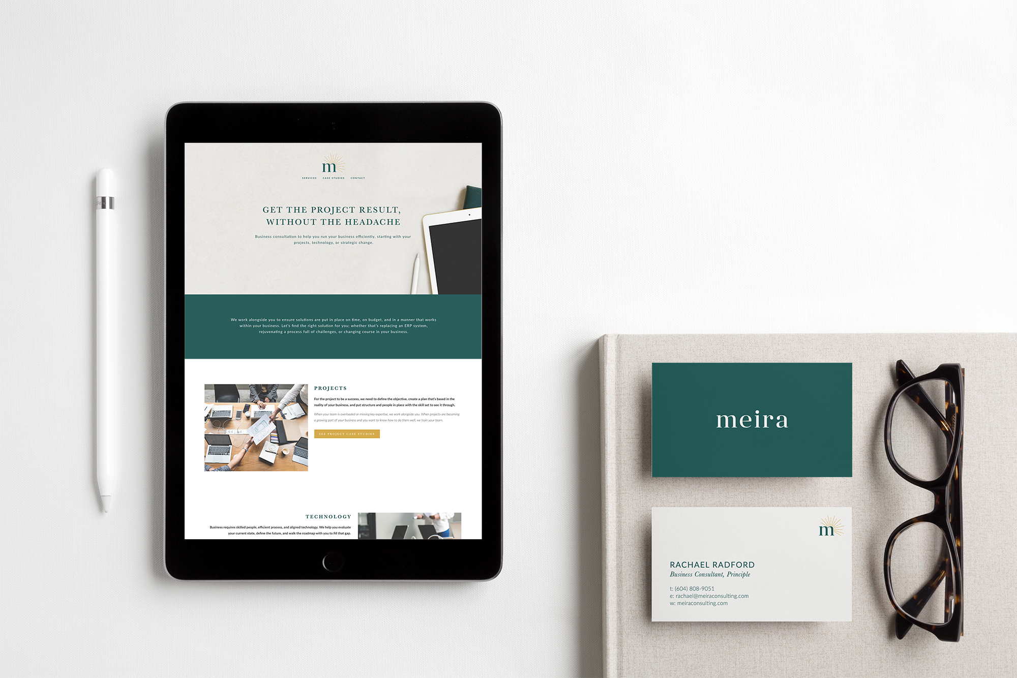Meira Consulting Squarespace website