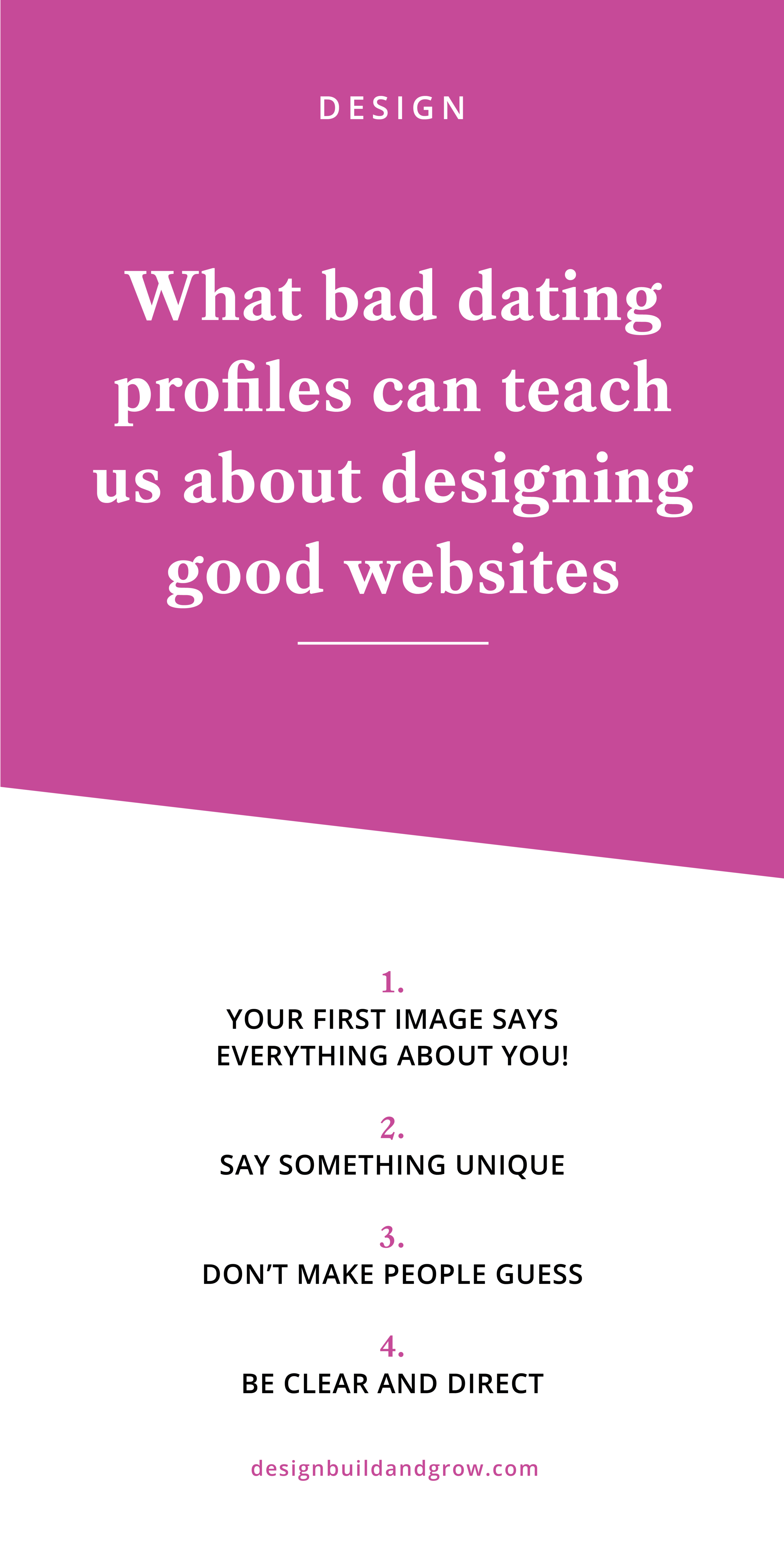 what bad dating profiles can teach us about designing good websites