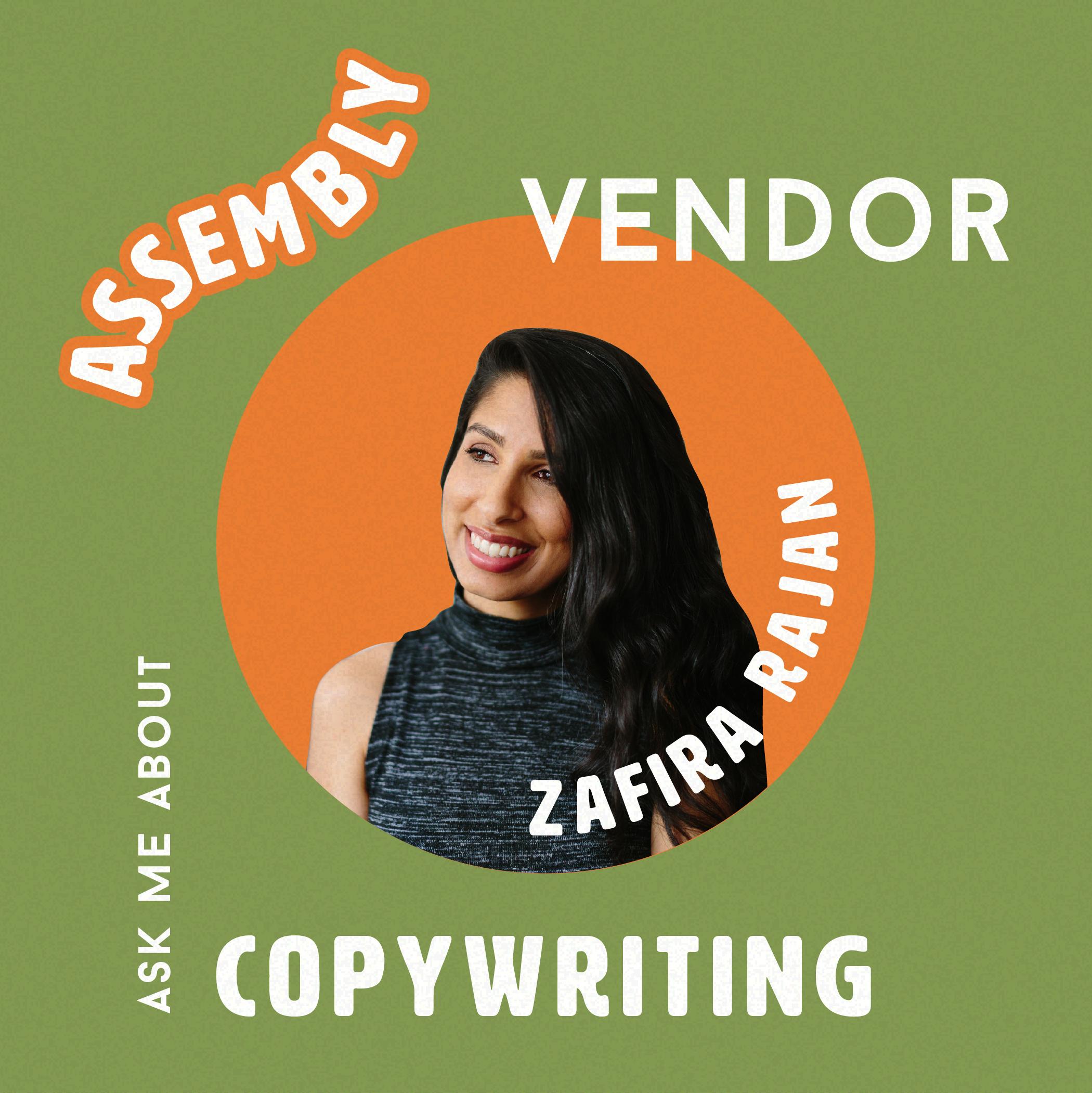 zafira+rajan+copywriter+assembly