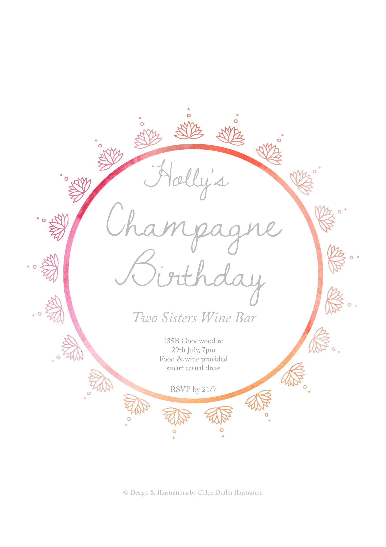 30th Birthday Invitation (back)