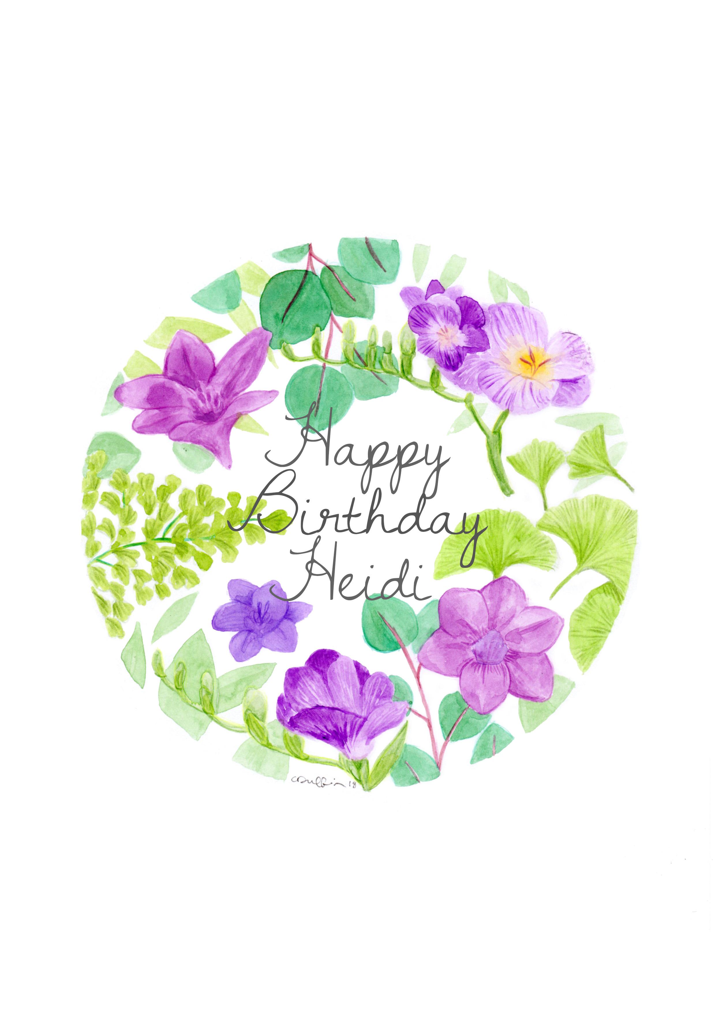 Birthday Card Commission