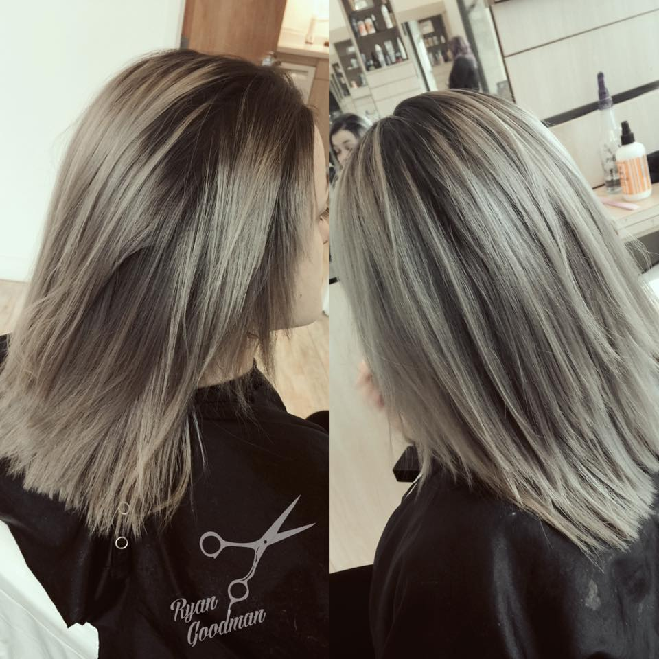 After 4 1/2 months, we finally got her to a silver tone! It took some time, But her hair thanks her for it.