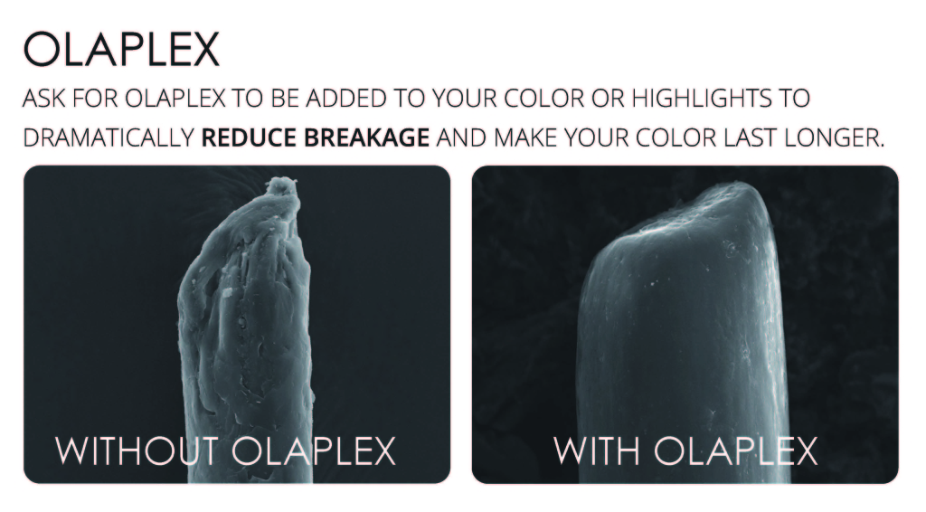 Next time you go into the salon, ask your stylist to use olaplex before your service or with your color formula.