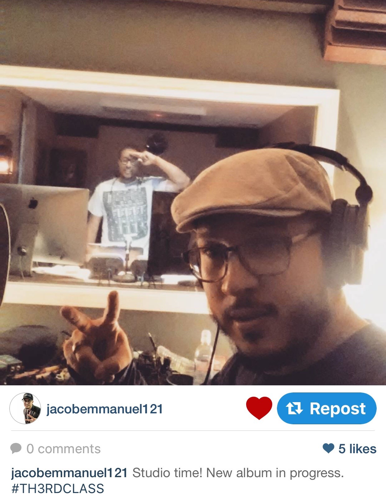 Jacob Emmanuel and I in Studio 325. For the record, this brother is one of those talented geezers that keep me grounded.