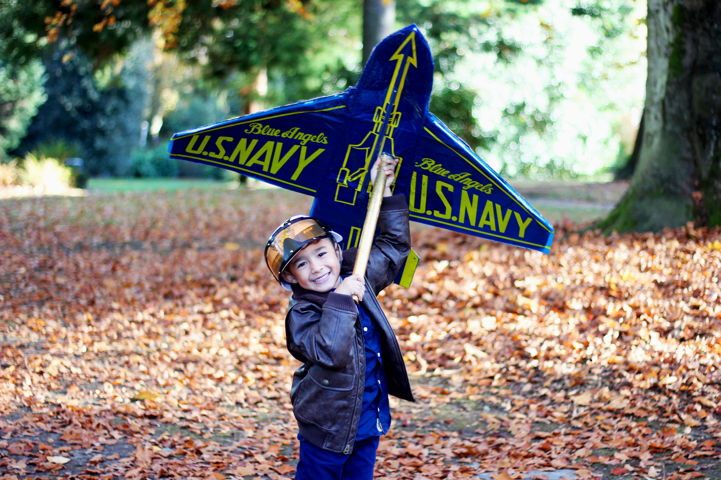 DIY Projects - KID COSTUMES: BLUE ANGELS FIGHTER JET PILOTS- All Kids Are Gifted