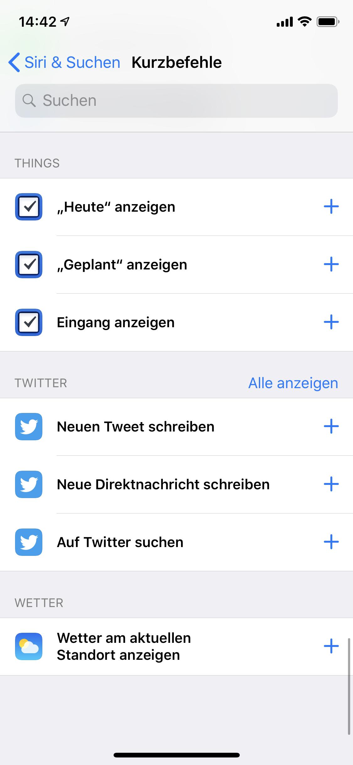 iOS Systemeinstellungen