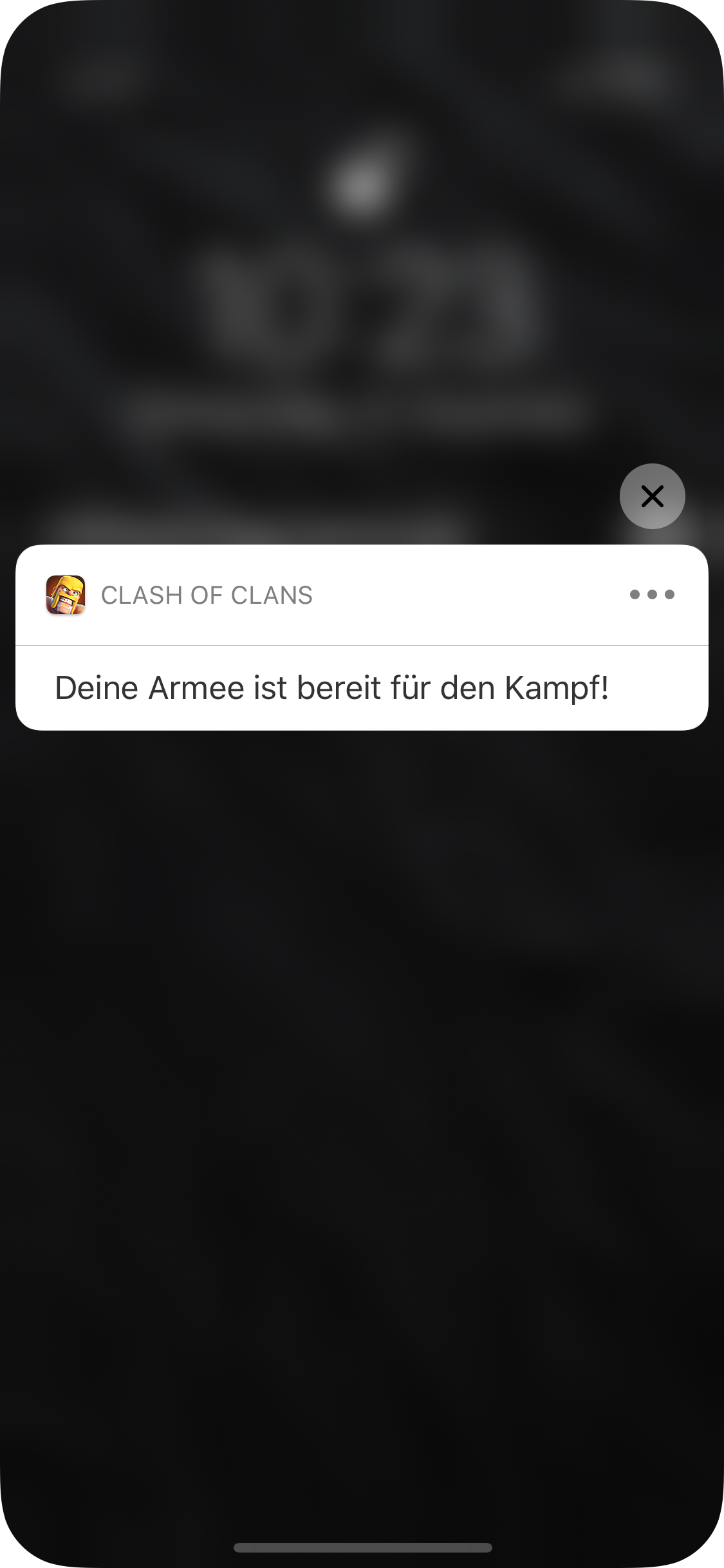 Darstellung einer Push Notification