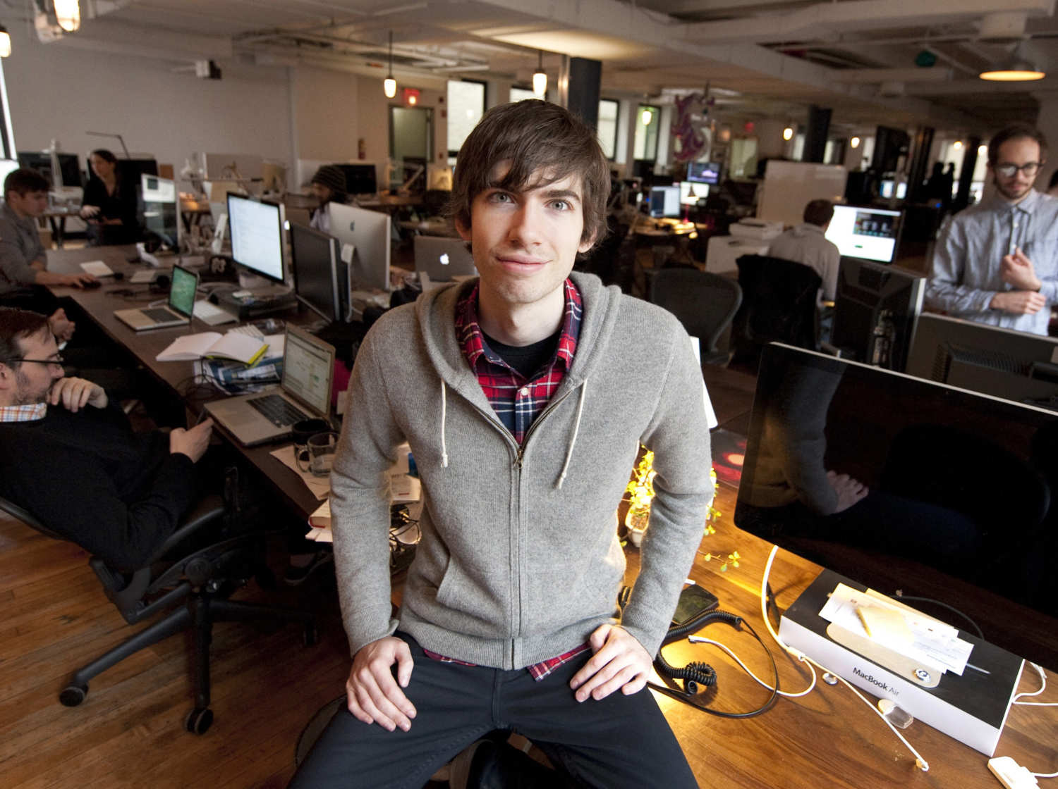 5. David Karp  When David Karp was 15, he dropped out of high school to be homeschooled on New York's Upper West Side. At 17, he moved to Tokyo to work for UrbanBaby, an online parenting advice site with highly trafficked message boards full of urban-dwelling moms and dads. He founded Tumblr at 20. Tumblr is a Web platform inspired by the tumblelog, a blog format which enables short-form, mixed-media posts. He is also the fist-bumping with U.S President.