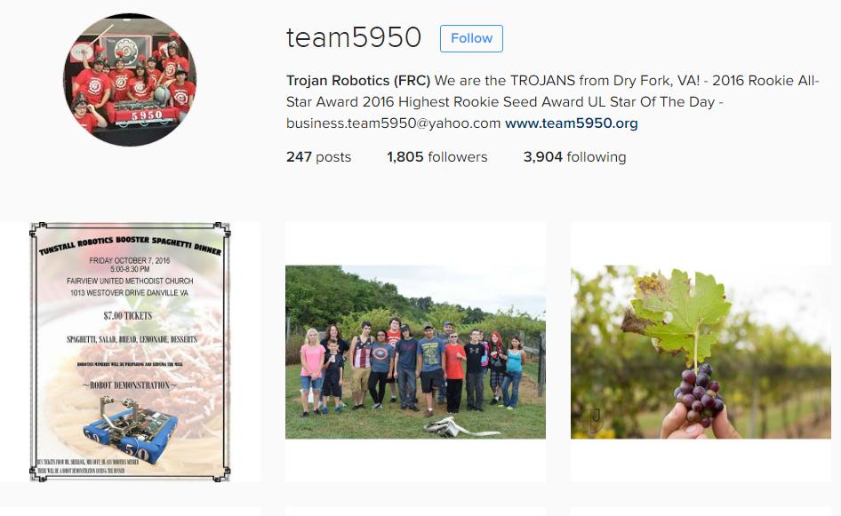 Follow Team 5950 in Instagram: https://www.instagram.com/team5950/
