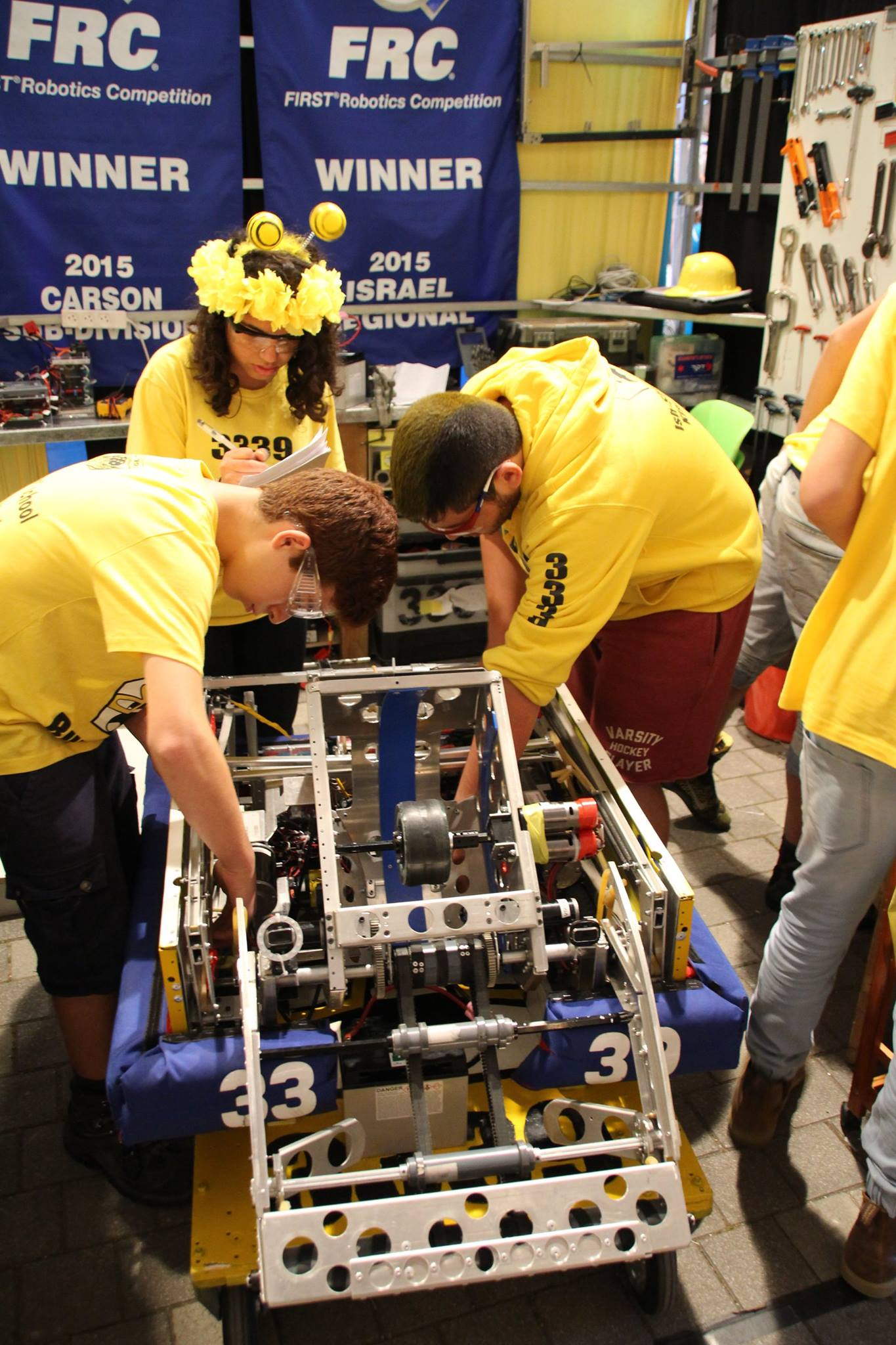 Working on the Robot in the PIT.jpg