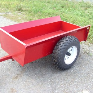 "Trailer 3060 R , 2 wheels, tilting, all-terrain, with rear panel, 30 ""X 60"", rocking, next to 14 ""."