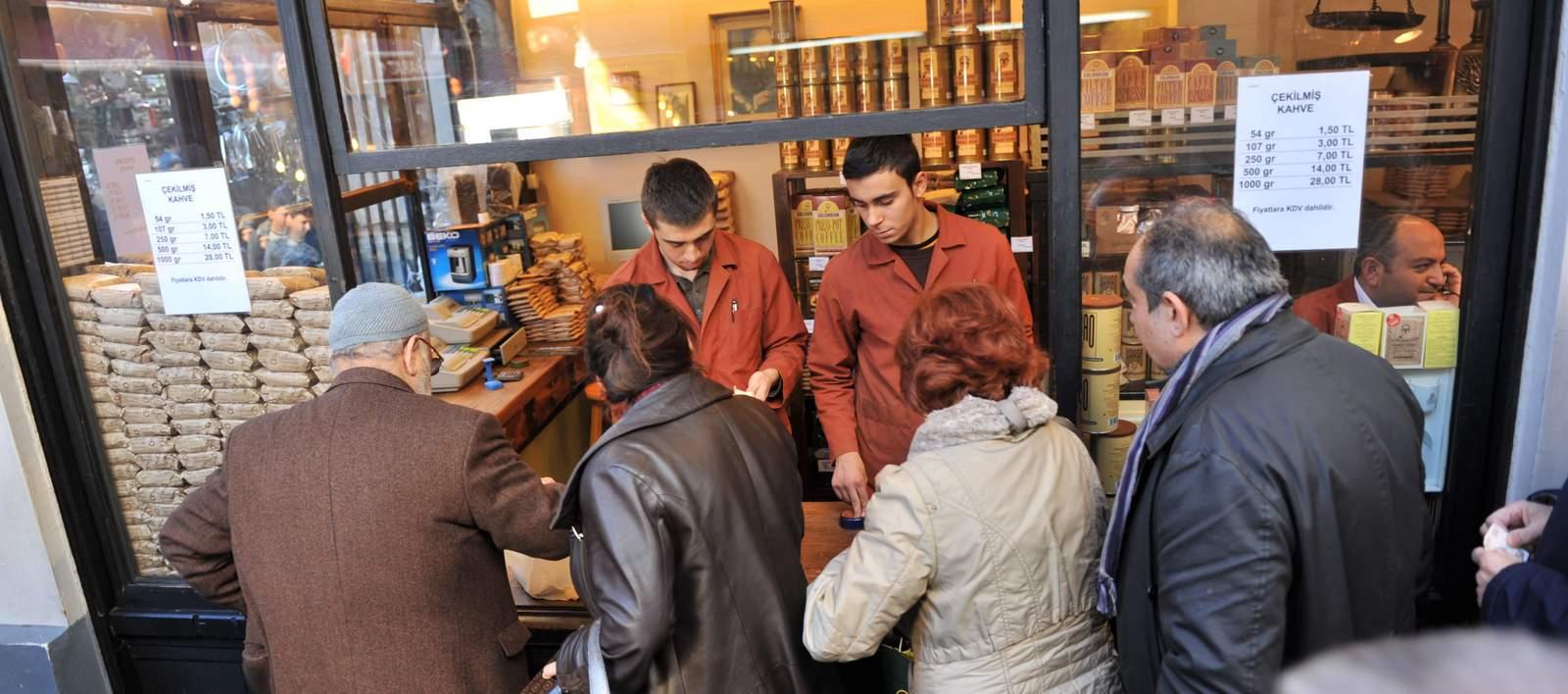 buying coffee