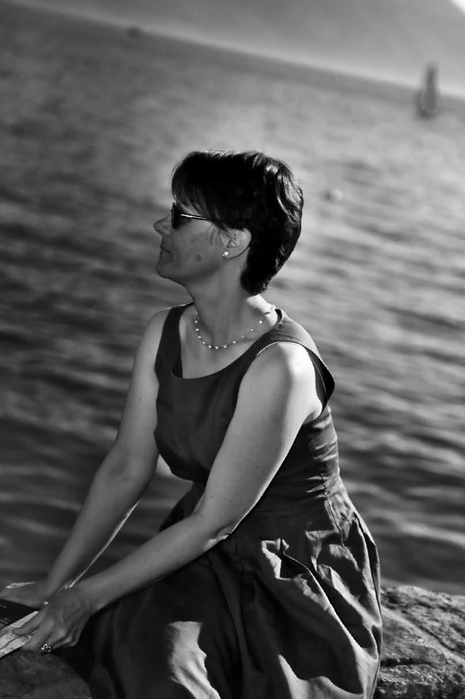 Lady watching the lake