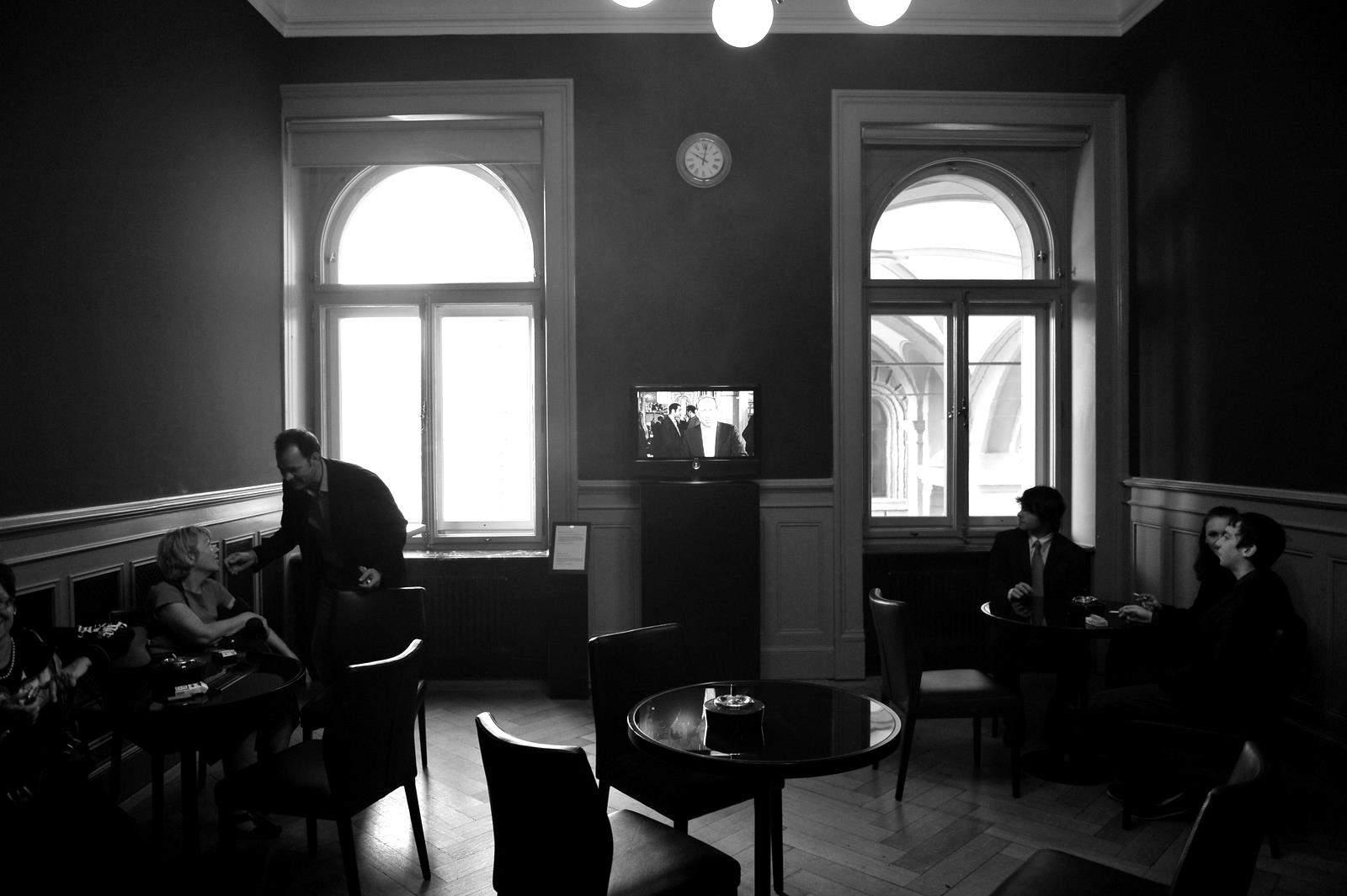 Smoking lounge....