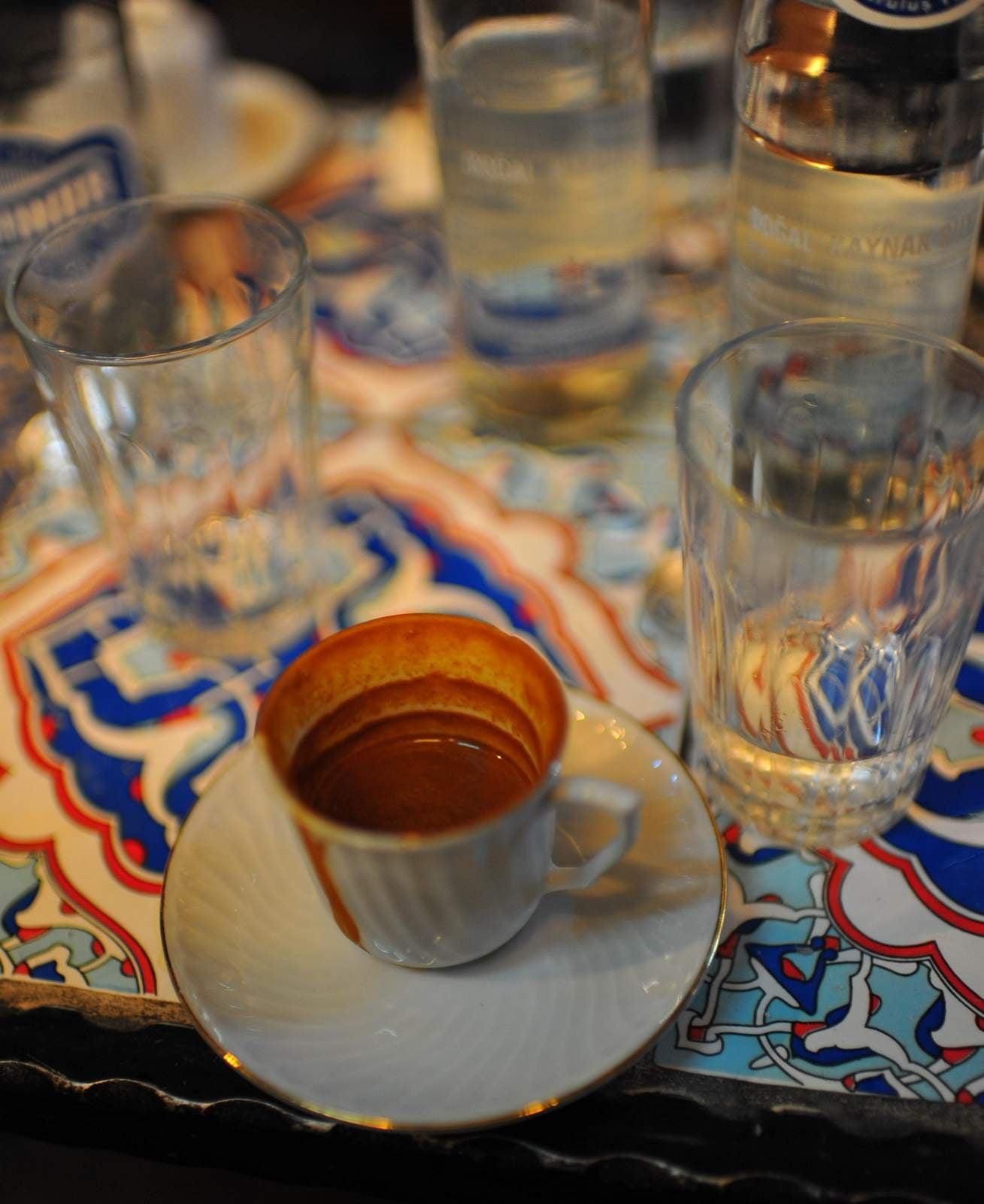Turkish coffee offered by 2 kurds